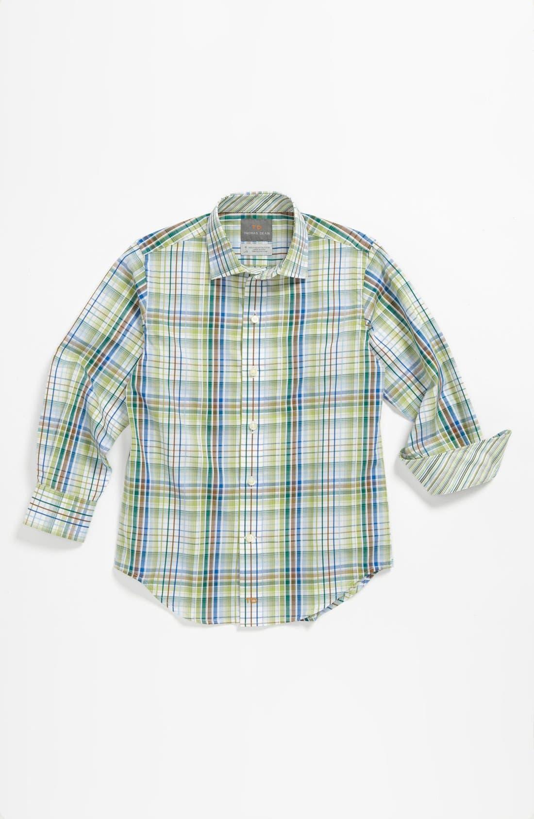 Main Image - Thomas Dean Plaid Dress Shirt (Little Boys & Big Boys)