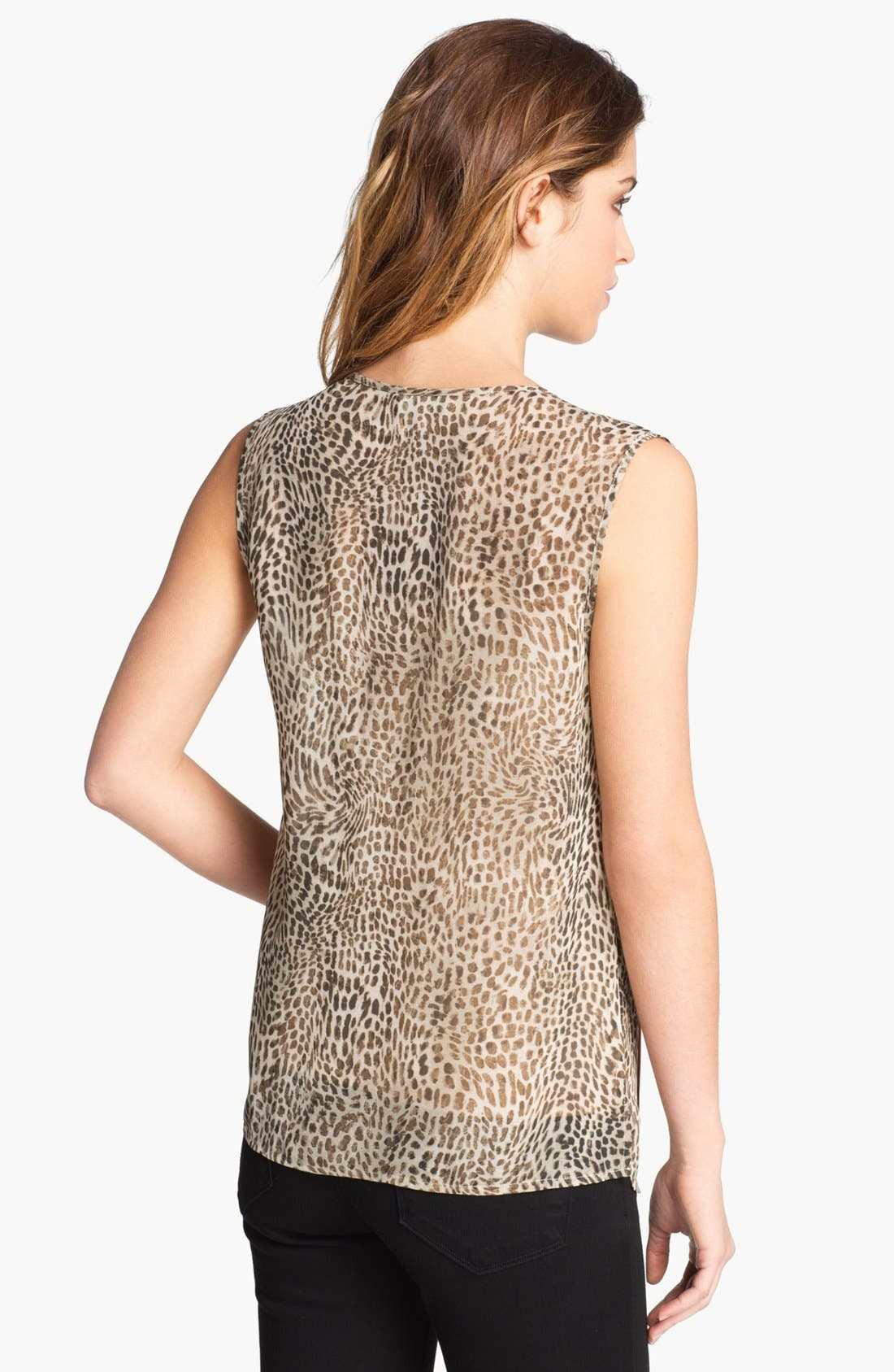 Alternate Image 2  - Vince Camuto Cheetah Print Blouse