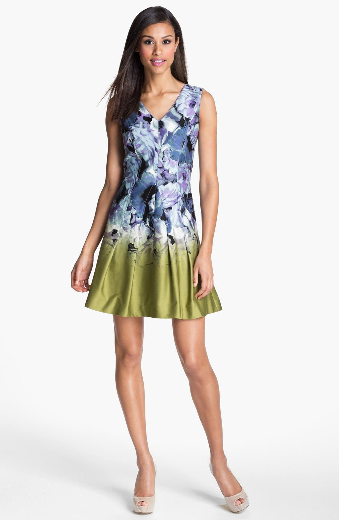 Alternate Image 1 Selected - Vince Camuto Print Fit & Flare Dress
