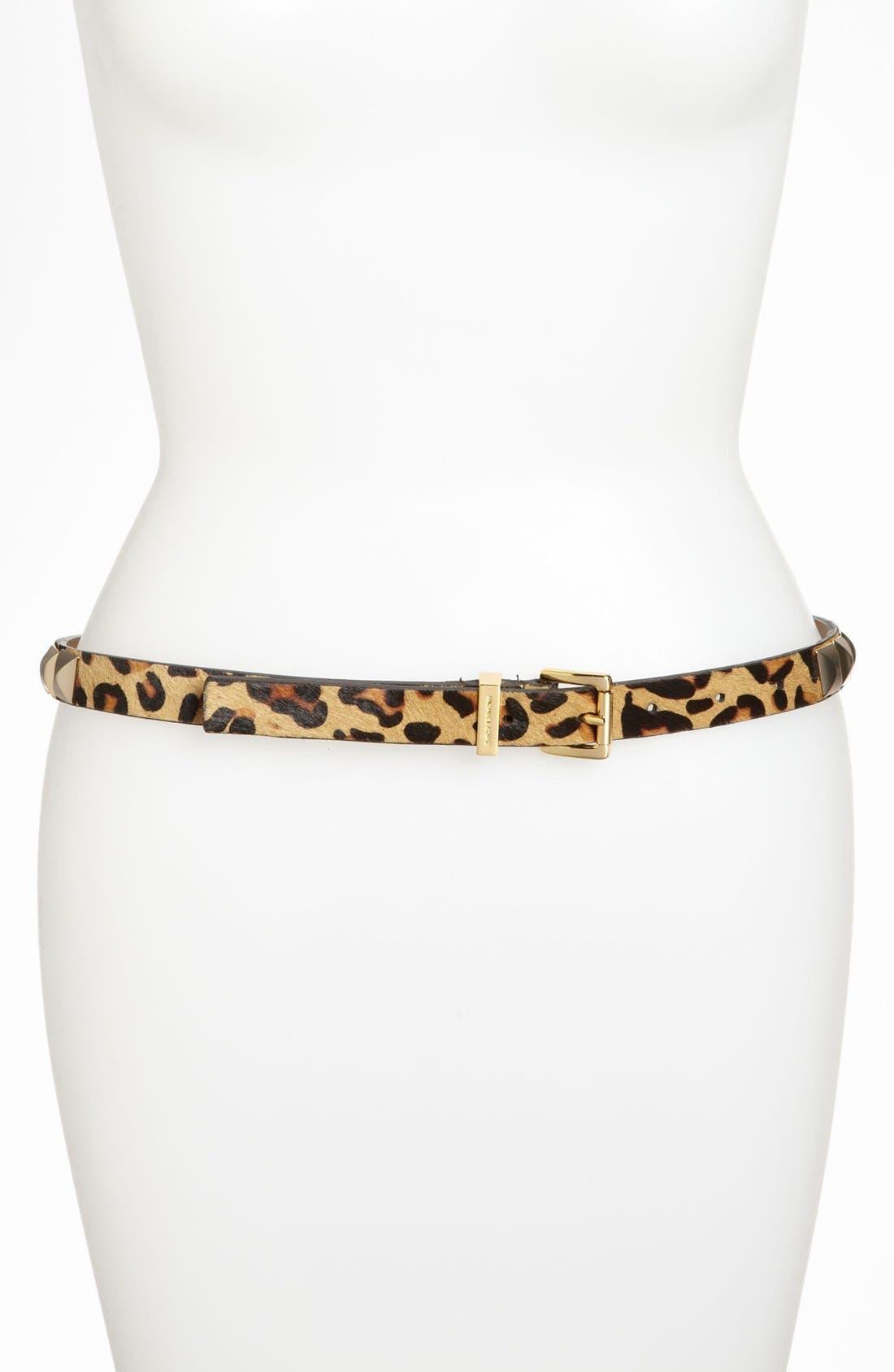 Main Image - MICHAEL Michael Kors Studded Calf Hair Belt