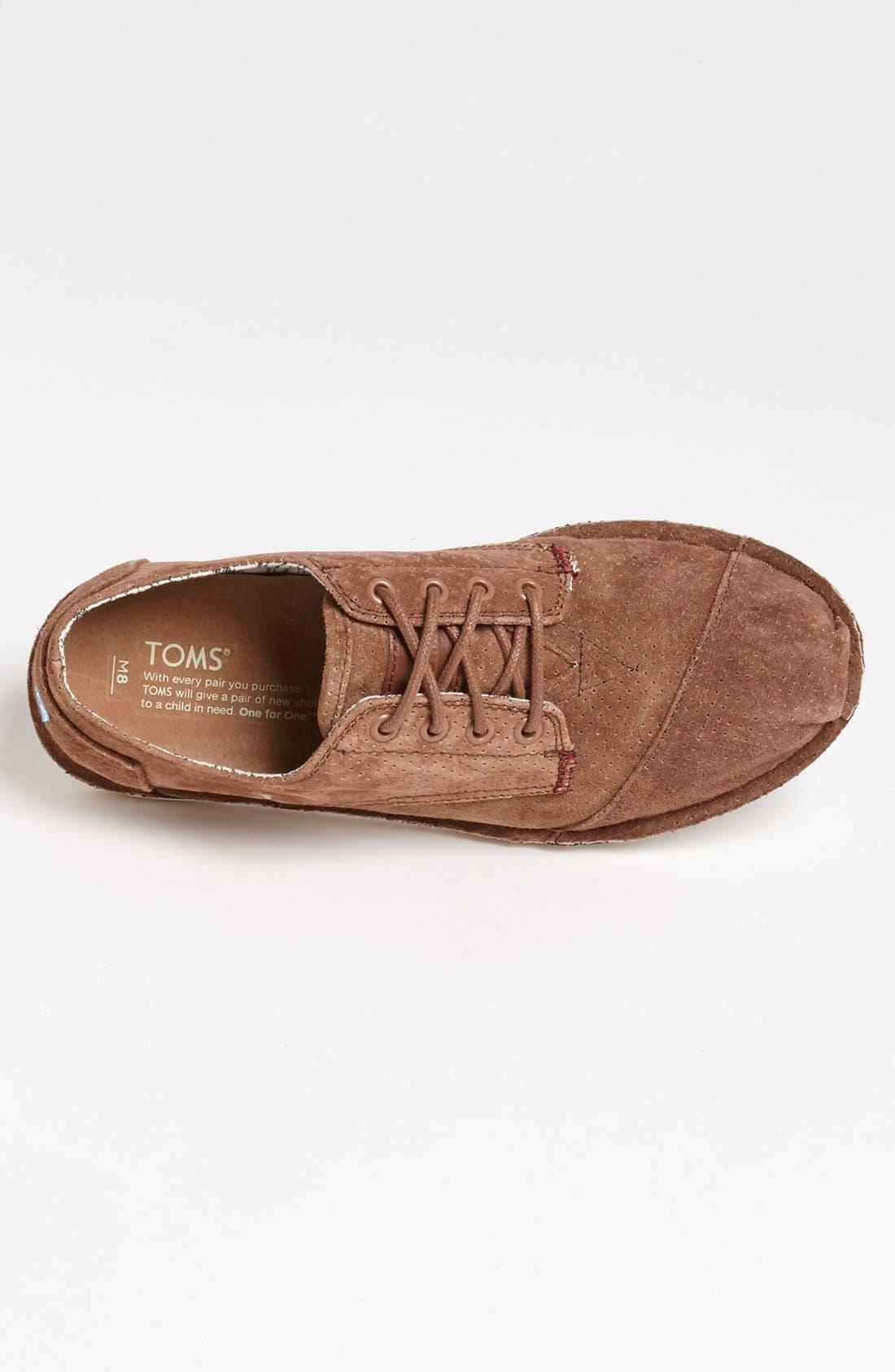 Alternate Image 3  - TOMS 'Desert' Perforated Suede Sneaker (Men)