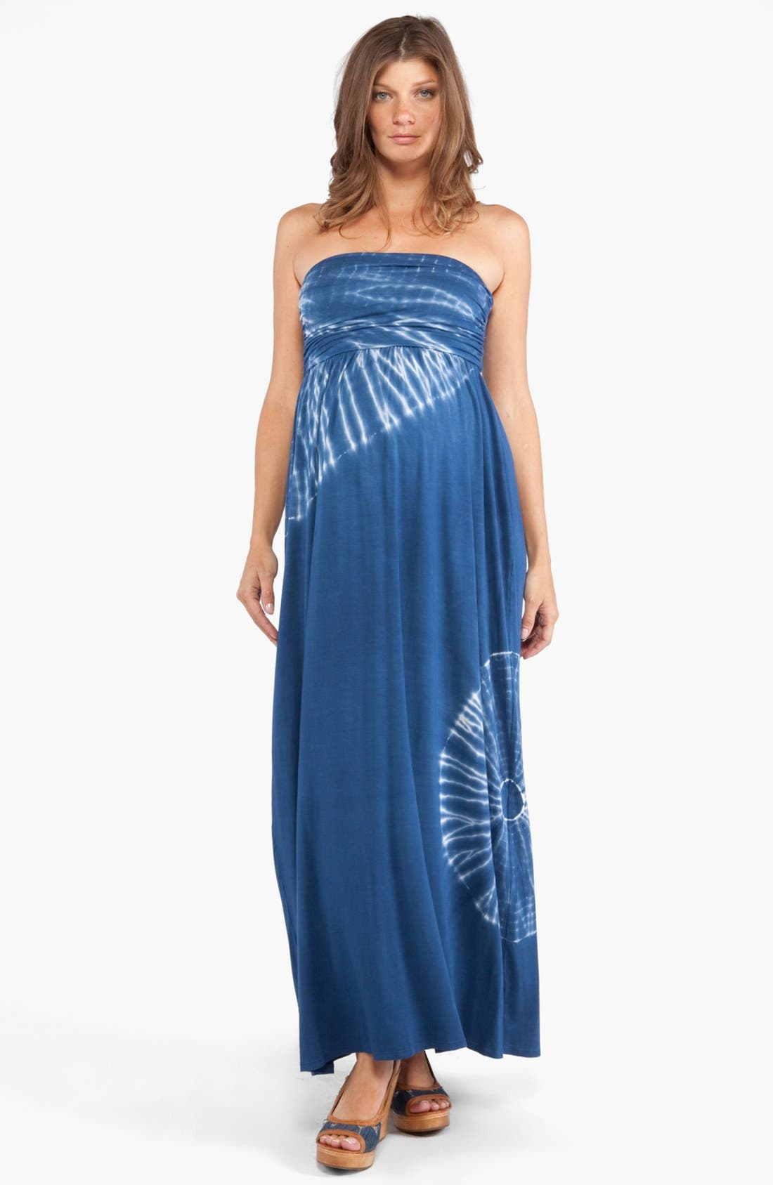 Alternate Image 1 Selected - Nom Maternity 'Aurora' Tie Dye Maternity Maxi Dress