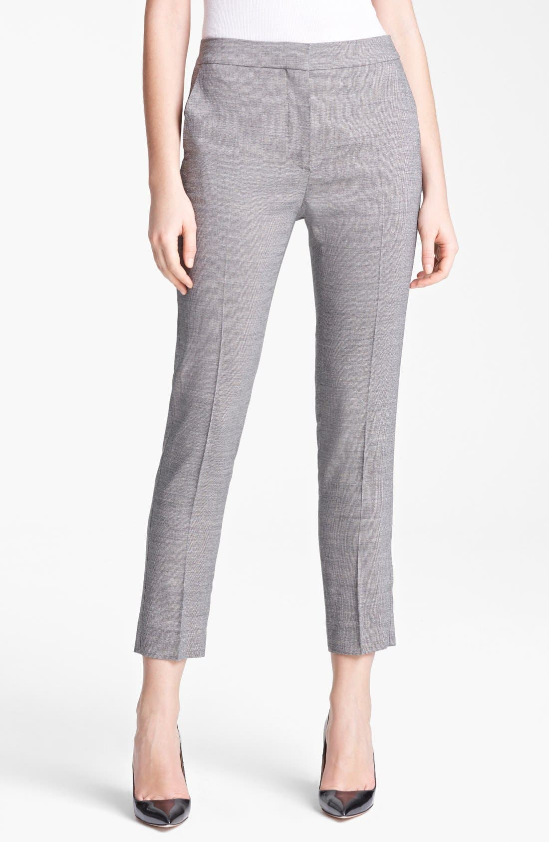 Main Image - Max Mara 'Vodka' Narrow Wool & Silk Crop Pants