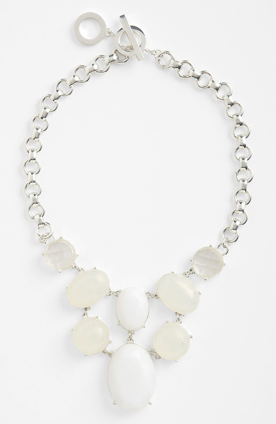 Alternate Image 1 Selected - Anne Klein Stone Bib Necklace