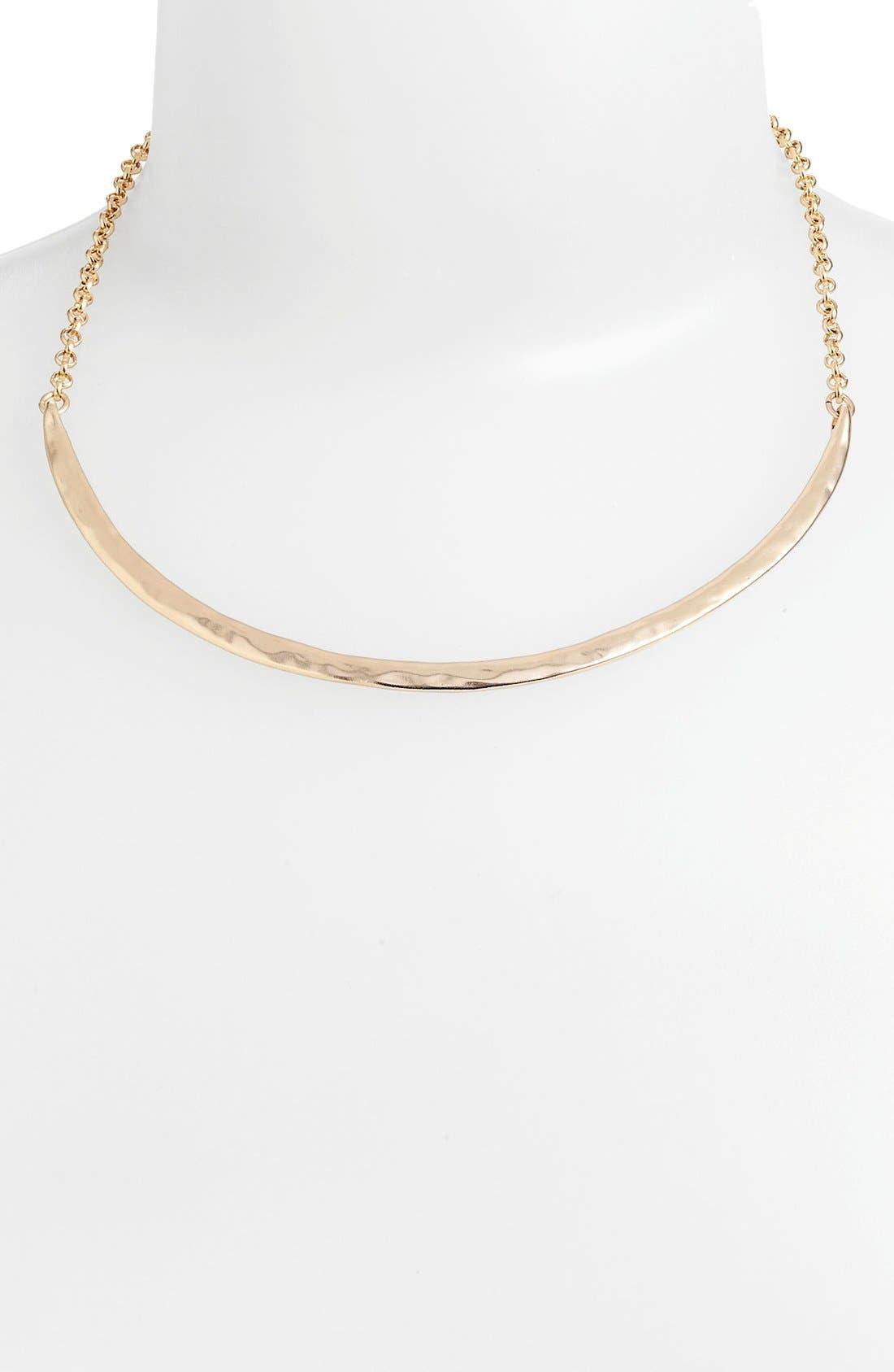 Alternate Image 1 Selected - Nordstrom 'Azteca' Curved Bar Necklace