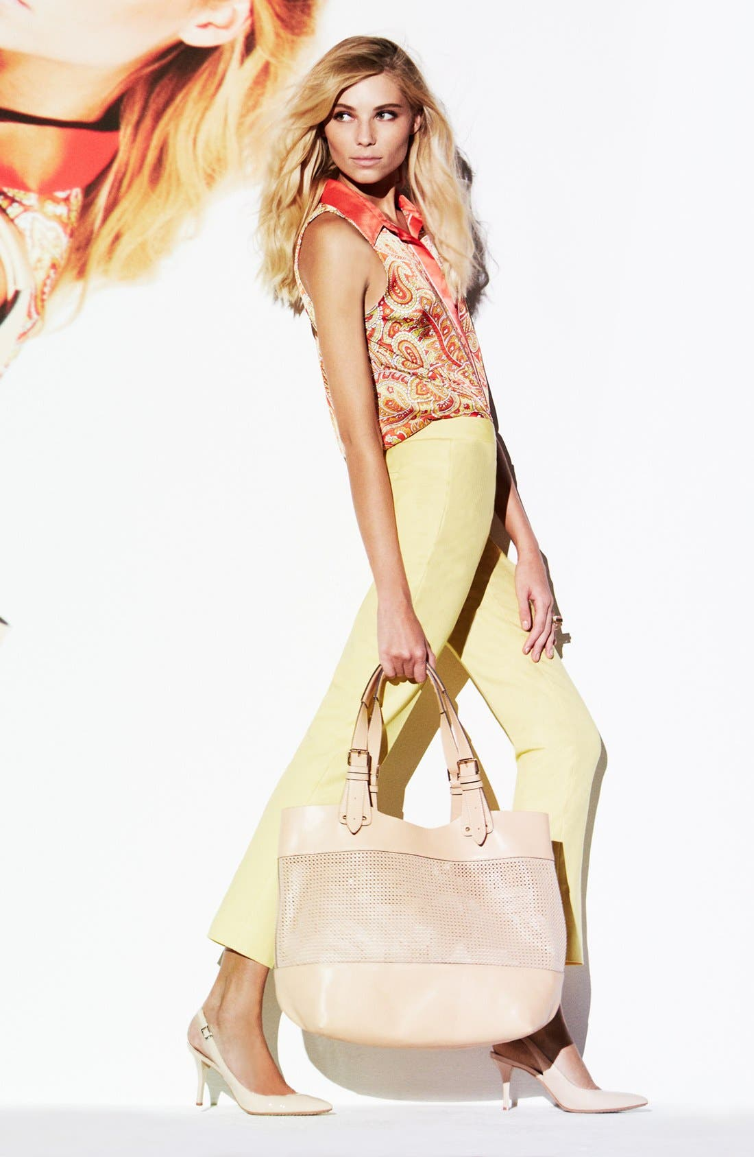 Alternate Image 6  - Vince Camuto Perforated Leather Tote