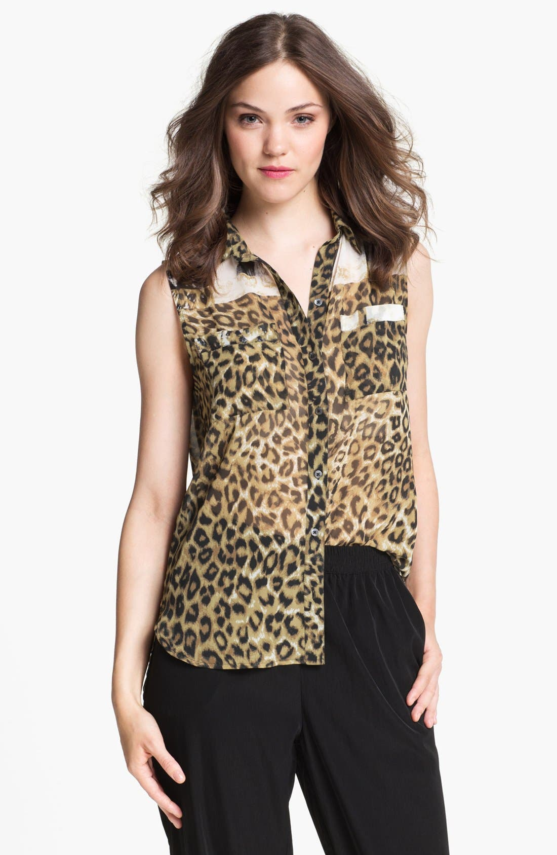 Alternate Image 1 Selected - Kenneth Cole New York 'Krissy' Animal Print Blouse (Online Only)