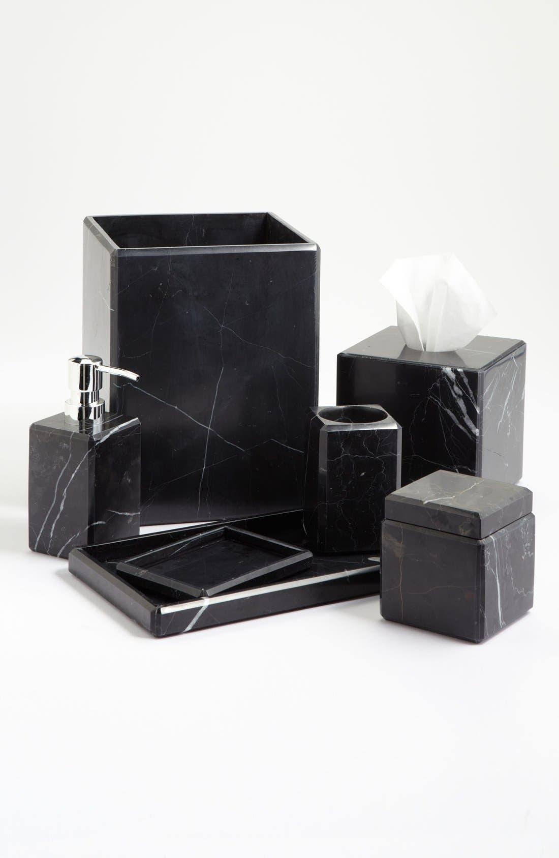 Studio 'Luna' Black Marble Covered Jar,                             Alternate thumbnail 2, color,                             Black