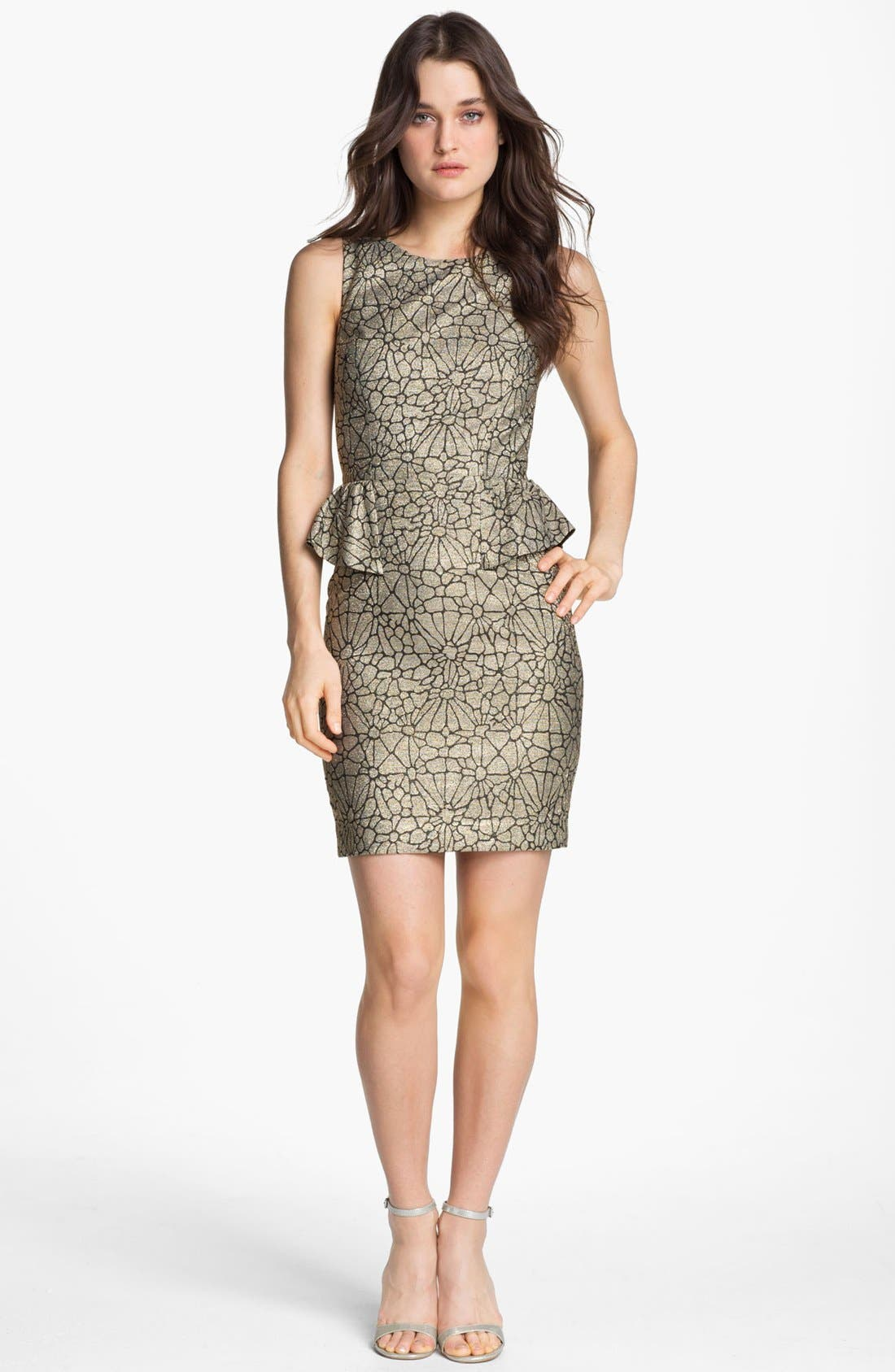Main Image - ERIN erin fetherston Metallic Peplum Sheath Dress