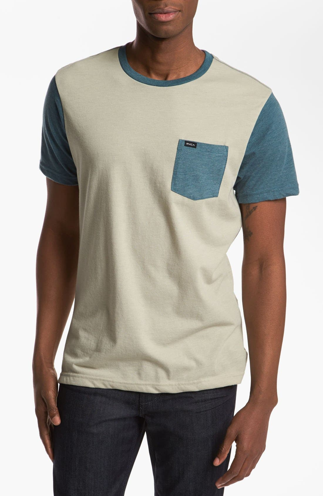 Alternate Image 1 Selected - RVCA Two Tone T-Shirt