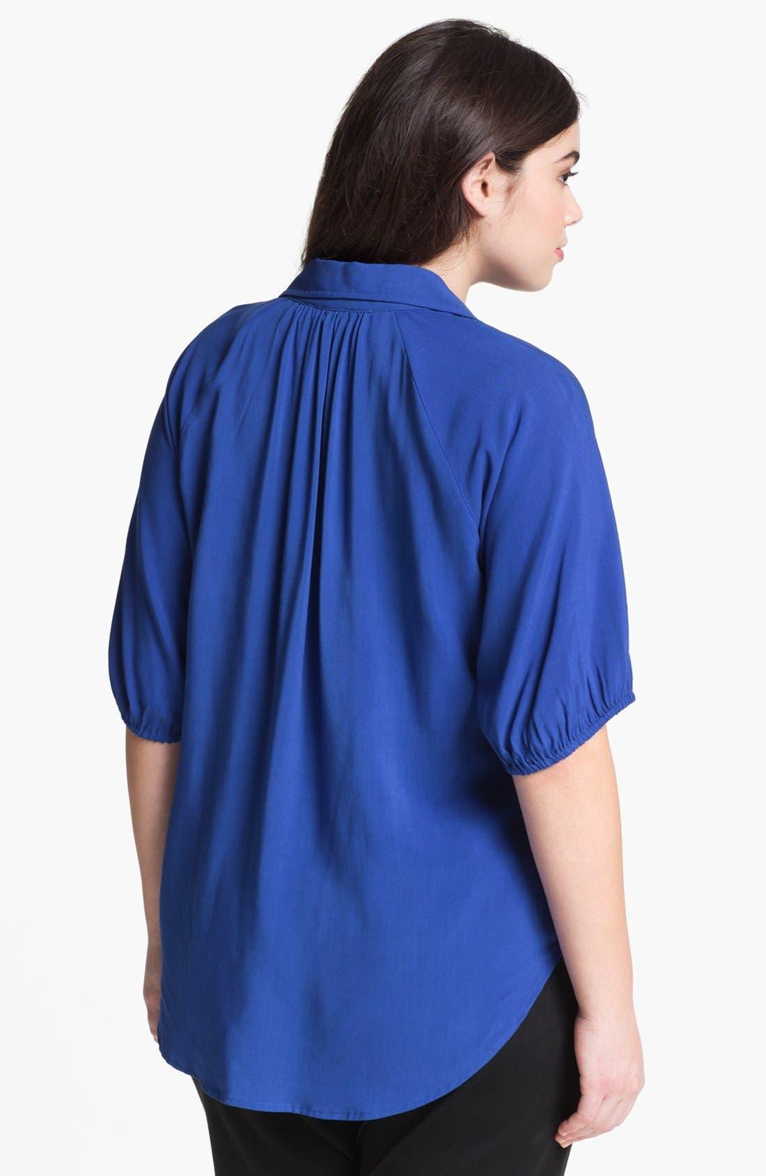 Alternate Image 2  - Karen Kane Split Collar Top (Plus Size)