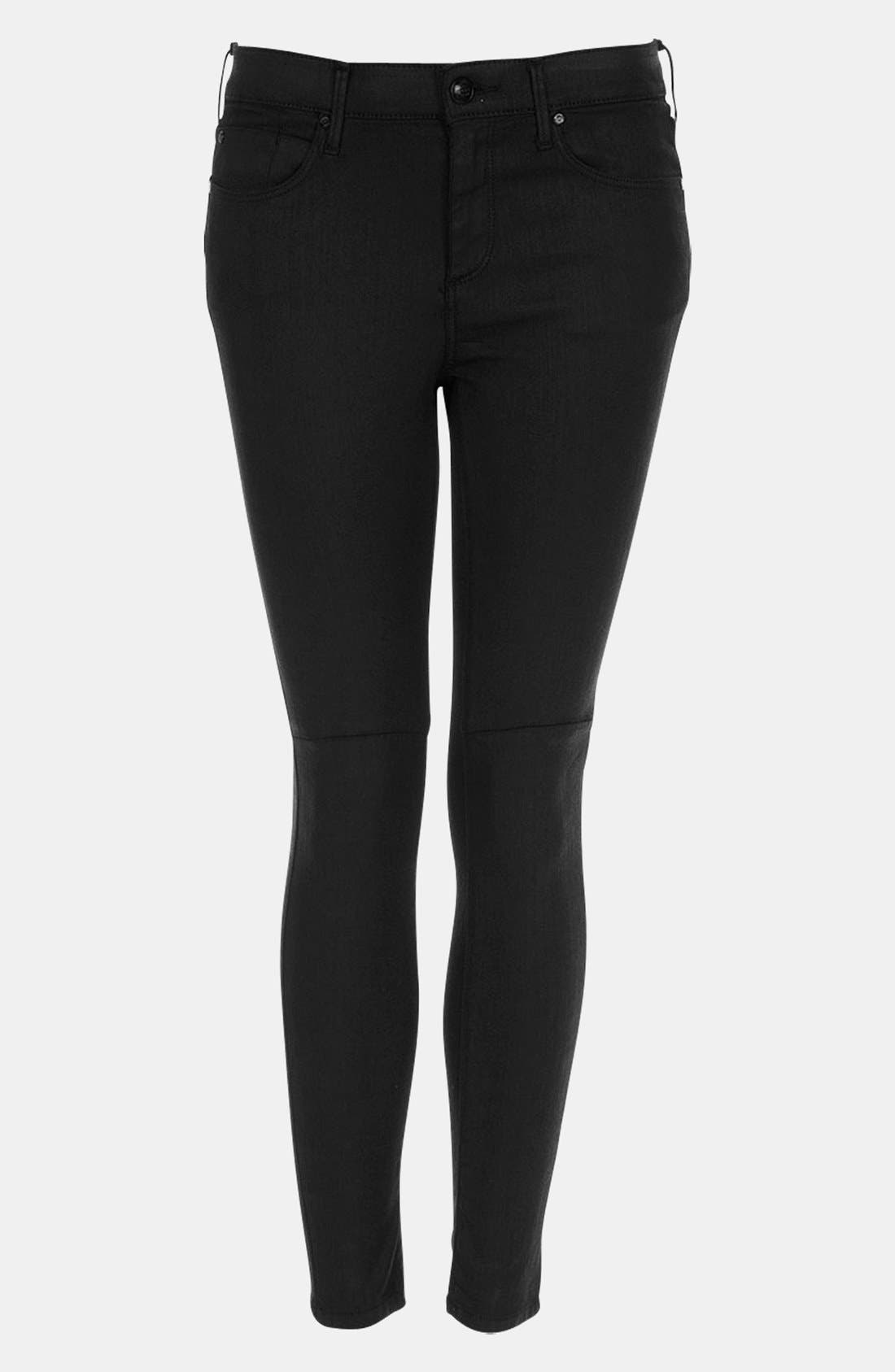 Main Image - Topshop Moto 'Leigh' Coated Skinny Jeans