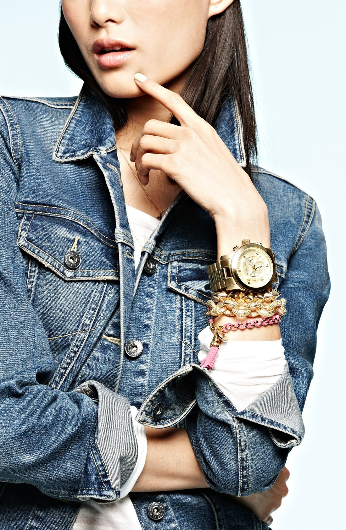 Alternate Image 5  - Tasha Spike Stretch Bracelet