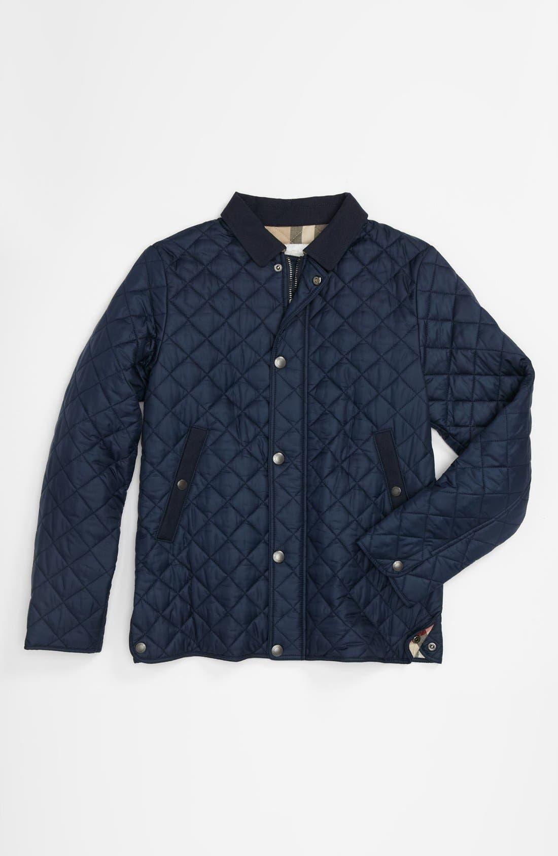 Alternate Image 1 Selected - Burberry 'Luke' Quilted Jacket (Little Boys & Big Boys)