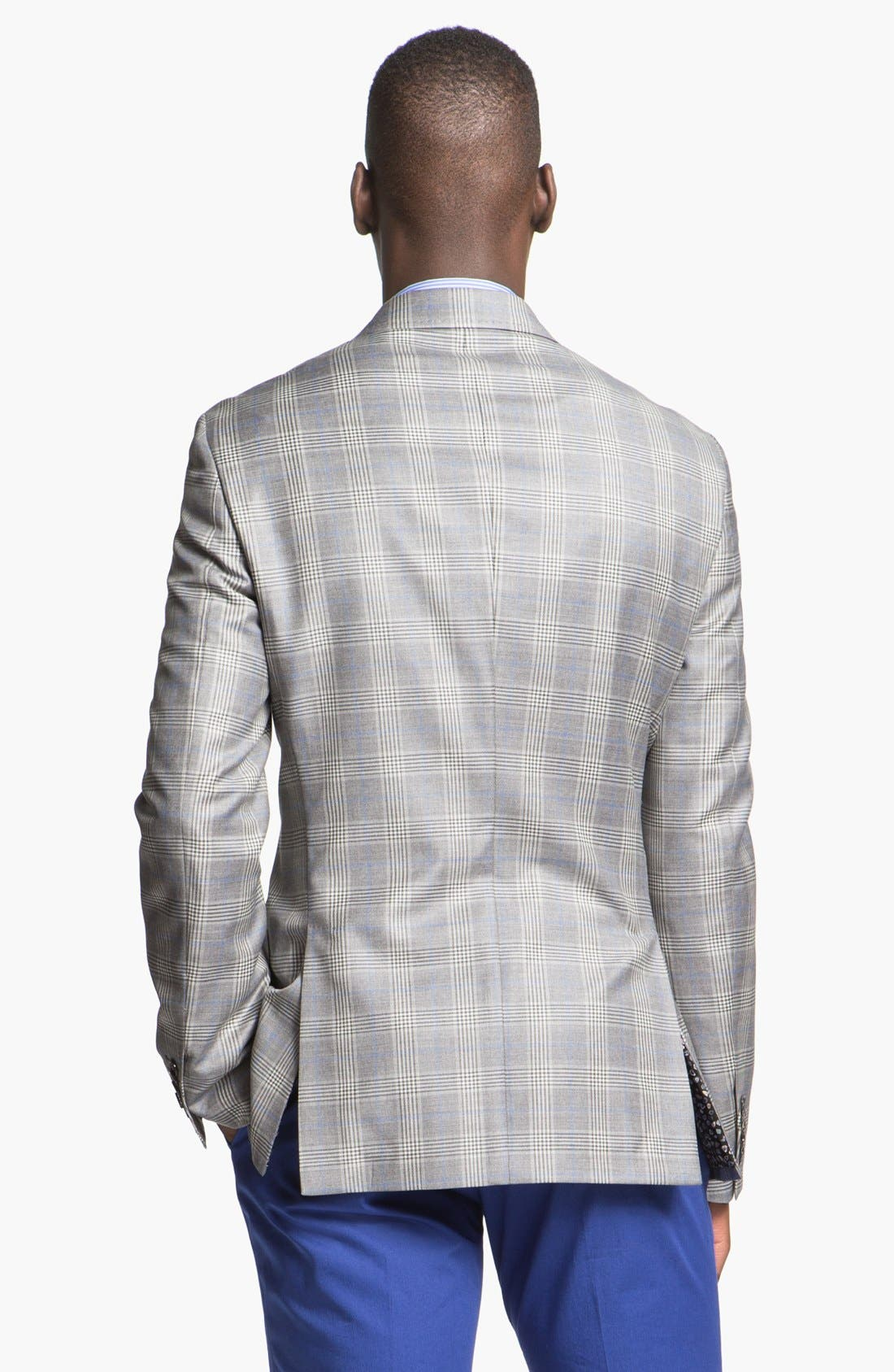 Alternate Image 2  - Paul Smith London Slim Fit Glen Plaid Wool Jacket
