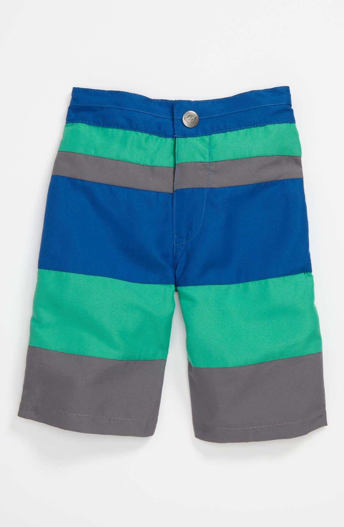 Alternate Image 1 Selected - Appaman Stripe Swim Shorts (Toddler)