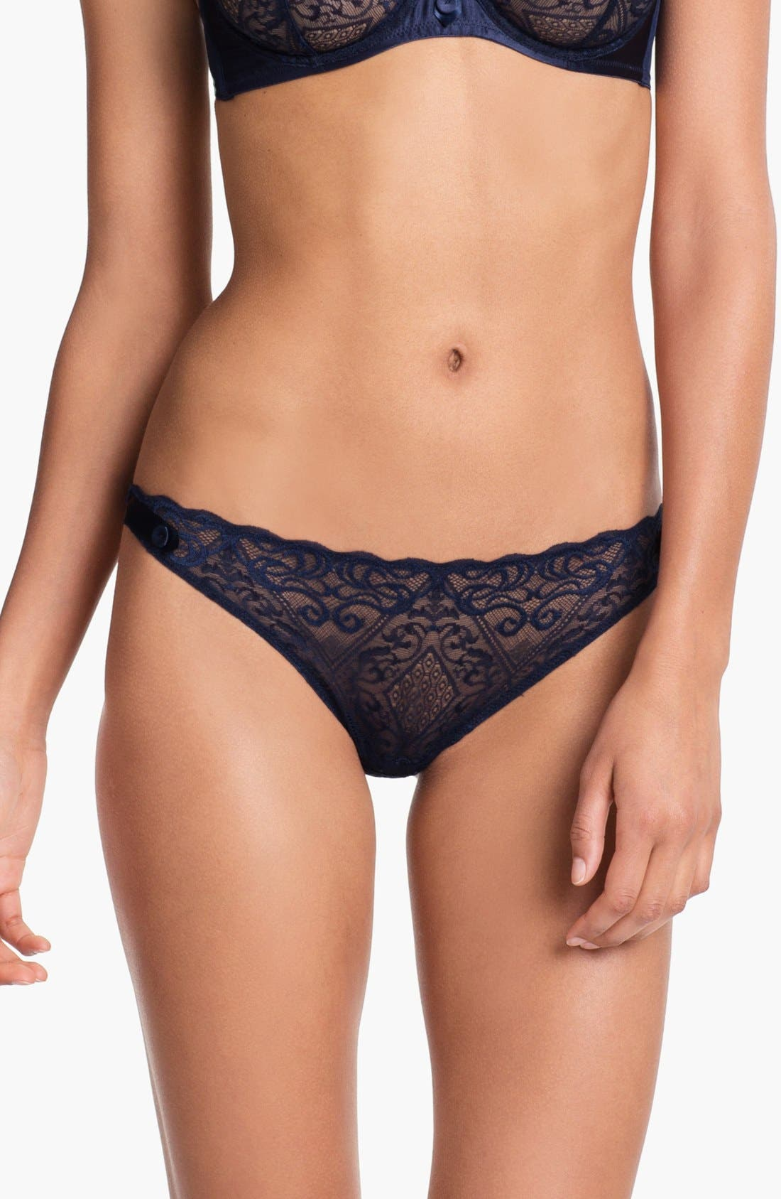 Alternate Image 1 Selected - La Perla Embellished Lace Thong