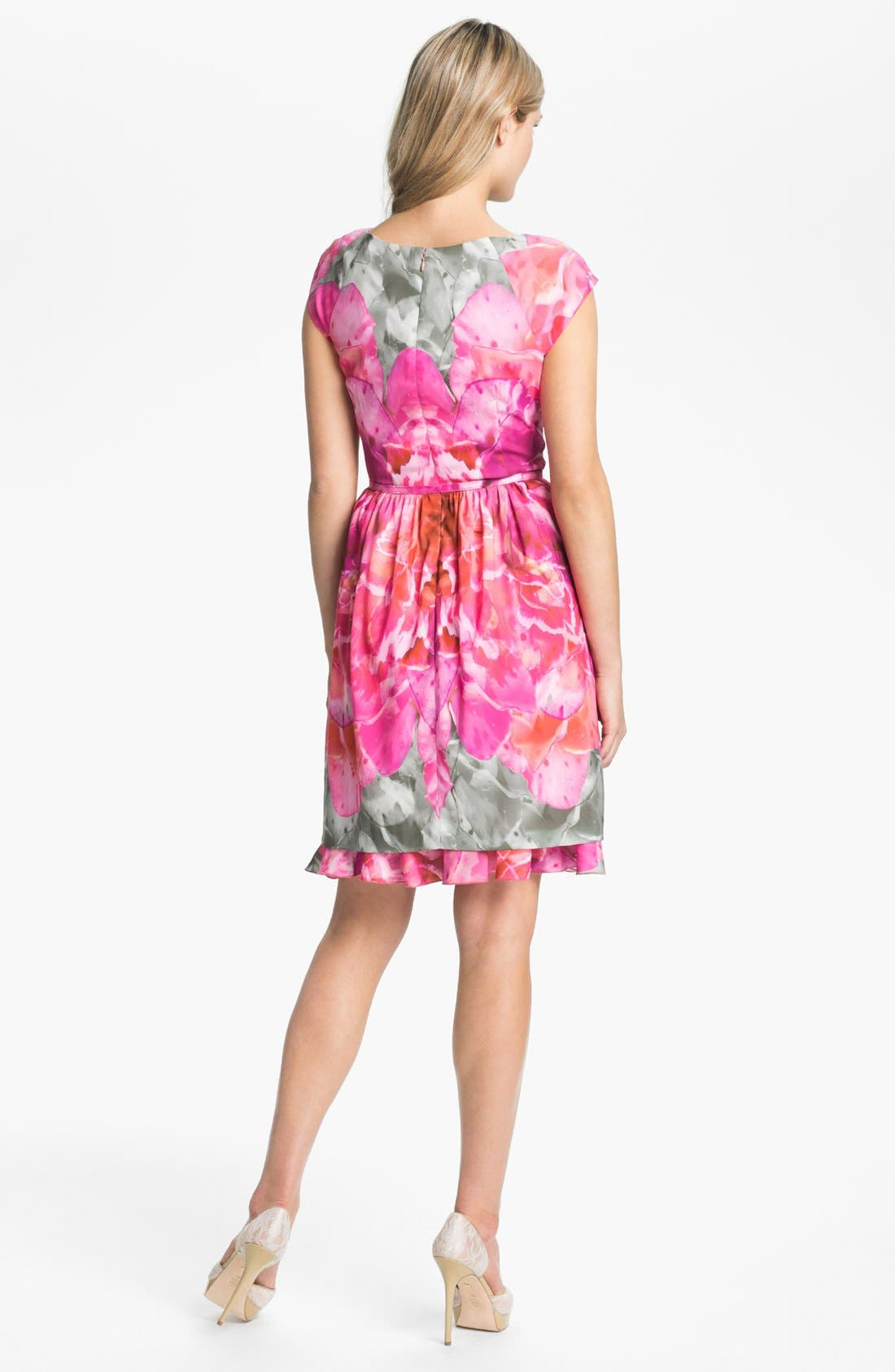 Alternate Image 2  - Suzi Chin for Maggy Boutique Print Fit & Flare Dress