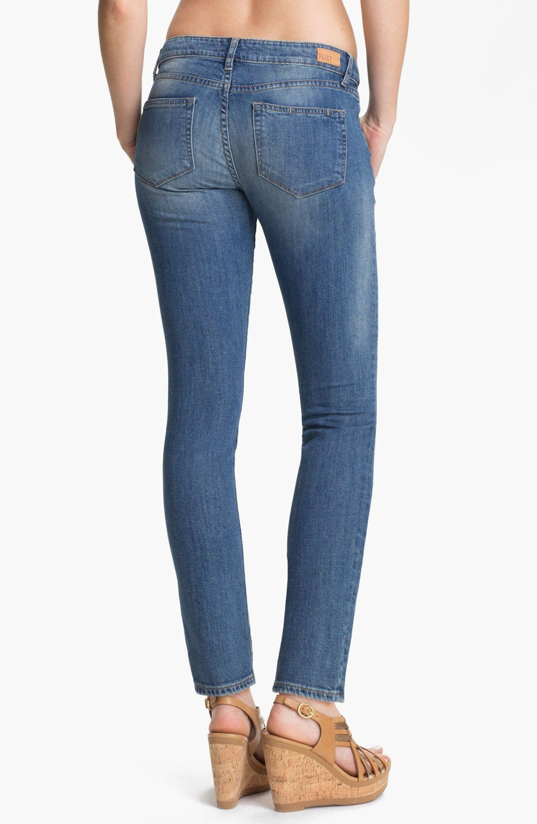 Alternate Image 2  - Paige Denim 'Skyline' Skinny Stretch Ankle Jeans (Monet)