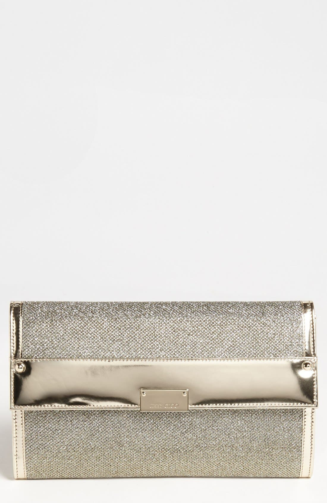 Alternate Image 1 Selected - Jimmy Choo 'Reese - XL' Lamé Clutch