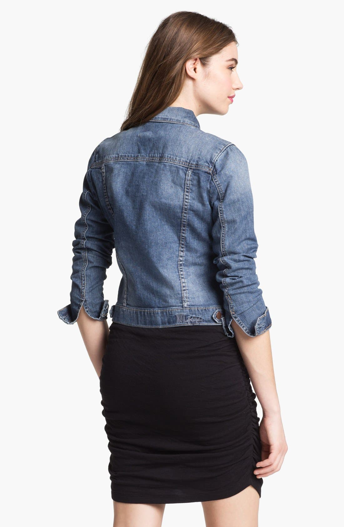 Alternate Image 2  - KUT from the Kloth Denim Jacket (Petite)