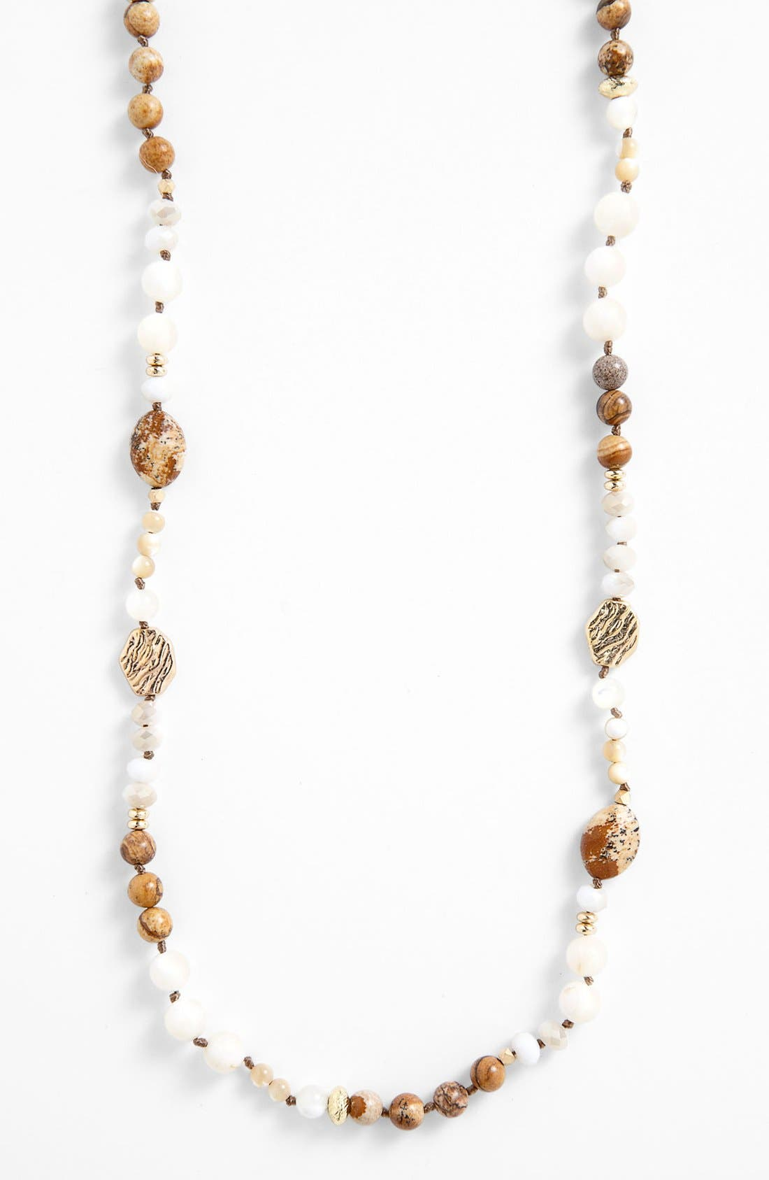 Alternate Image 1 Selected - Nordstrom 'Pebbles' Long Beaded Necklace