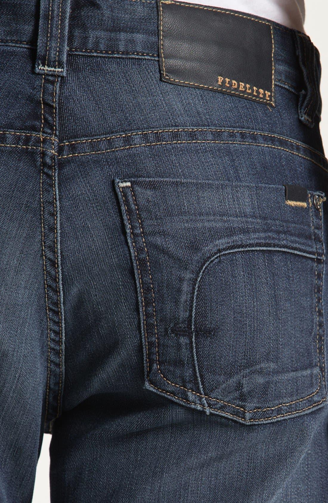 Alternate Image 4  - Fidelity Denim '5011' Straight Leg Jeans (Petrol Blue)