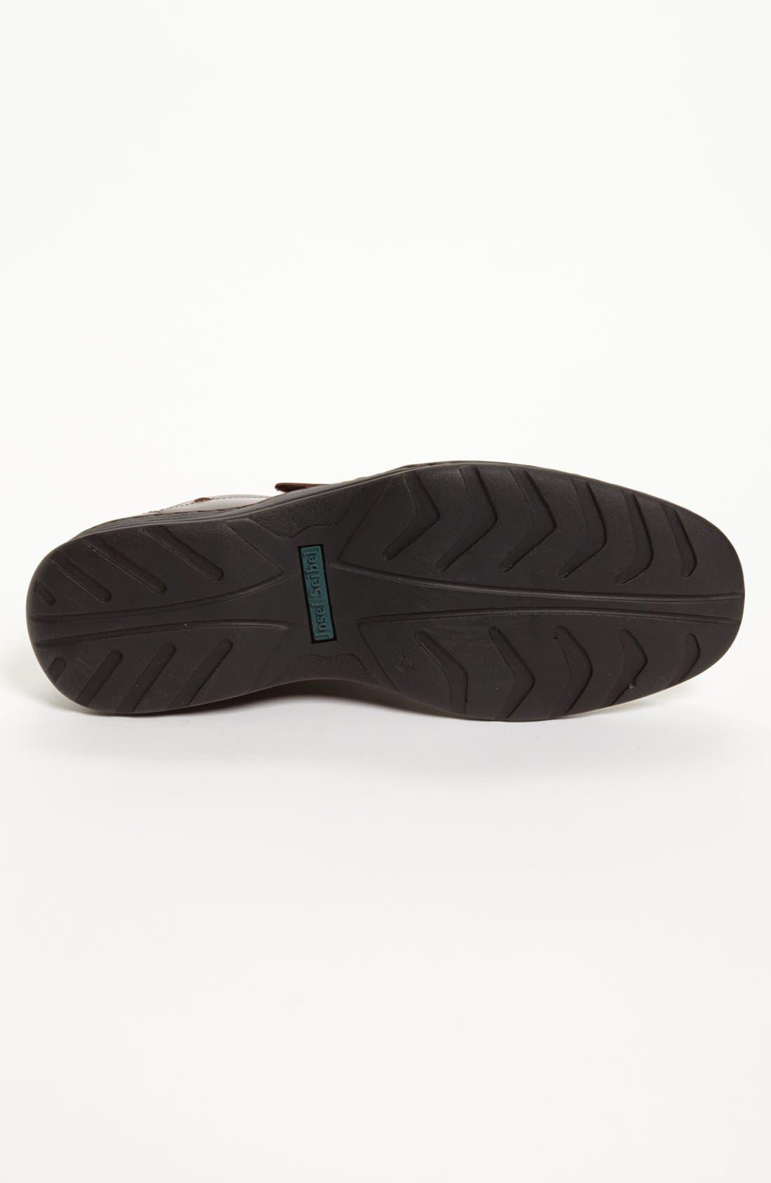 'Lionel 06' Sandal,                             Alternate thumbnail 4, color,                             Brown/ Brown Leather