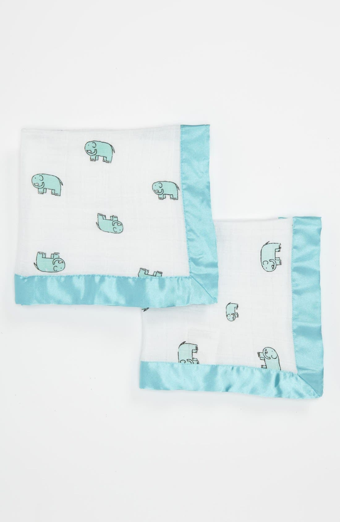 Alternate Image 1 Selected - aden + anais 'Classic Issie' Security Blanket (Set of 2)