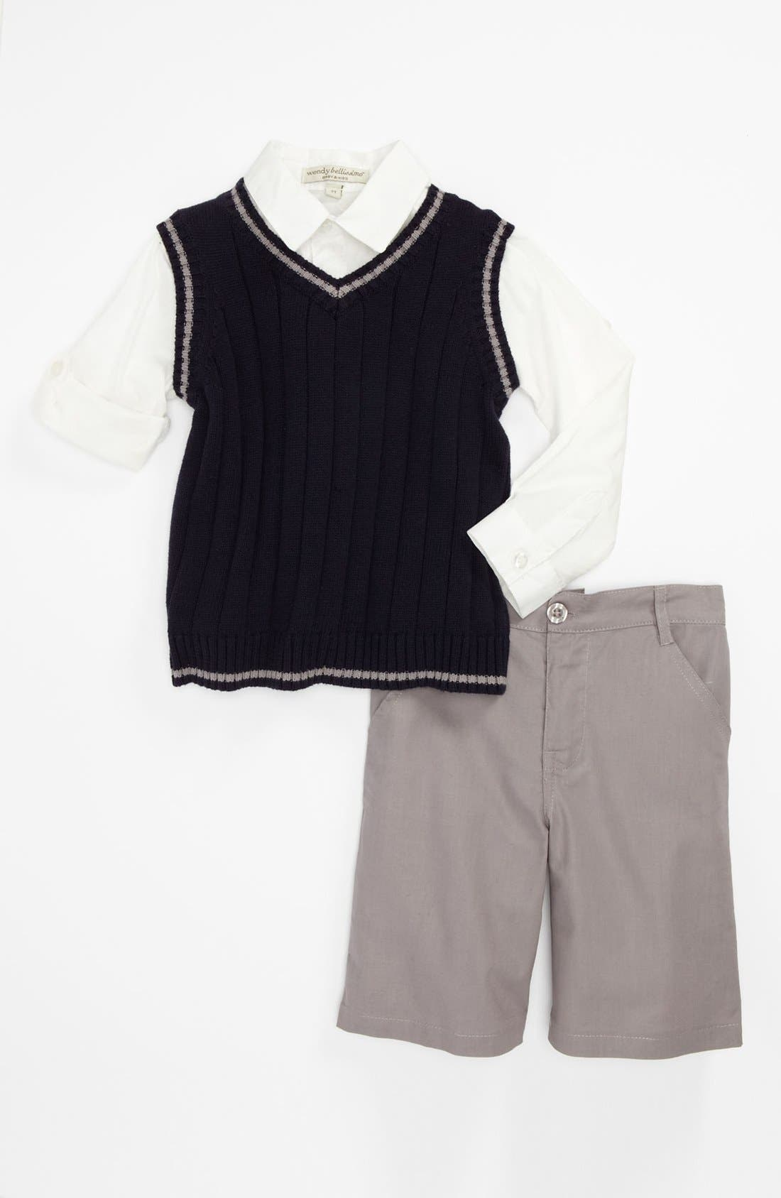 Wendy Bellisimo Sweater Vest, Shirt & Shorts (Toddler) | Nordstrom