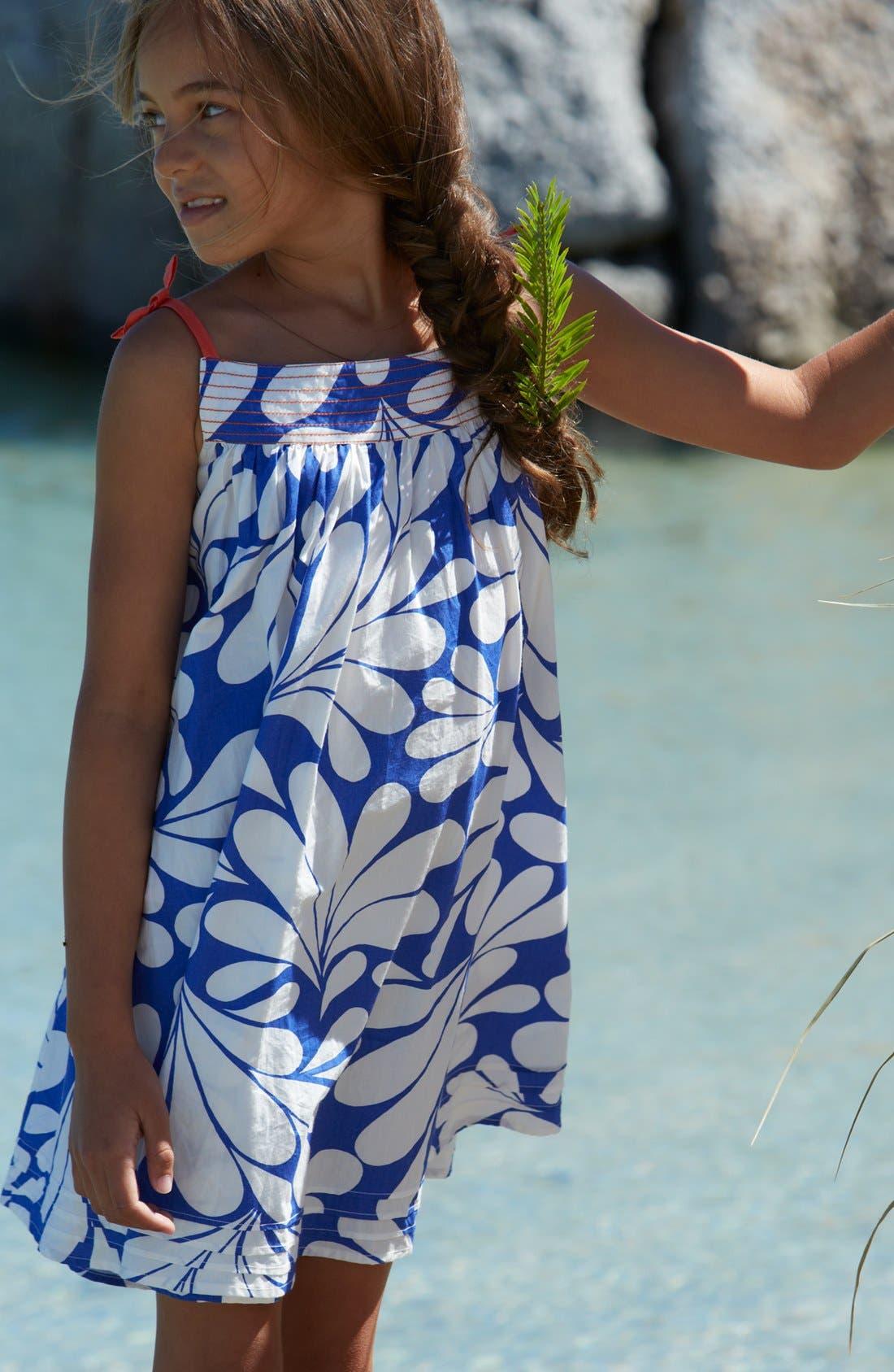 Alternate Image 2  - Mini Boden Print Holiday Dress (Toddler)