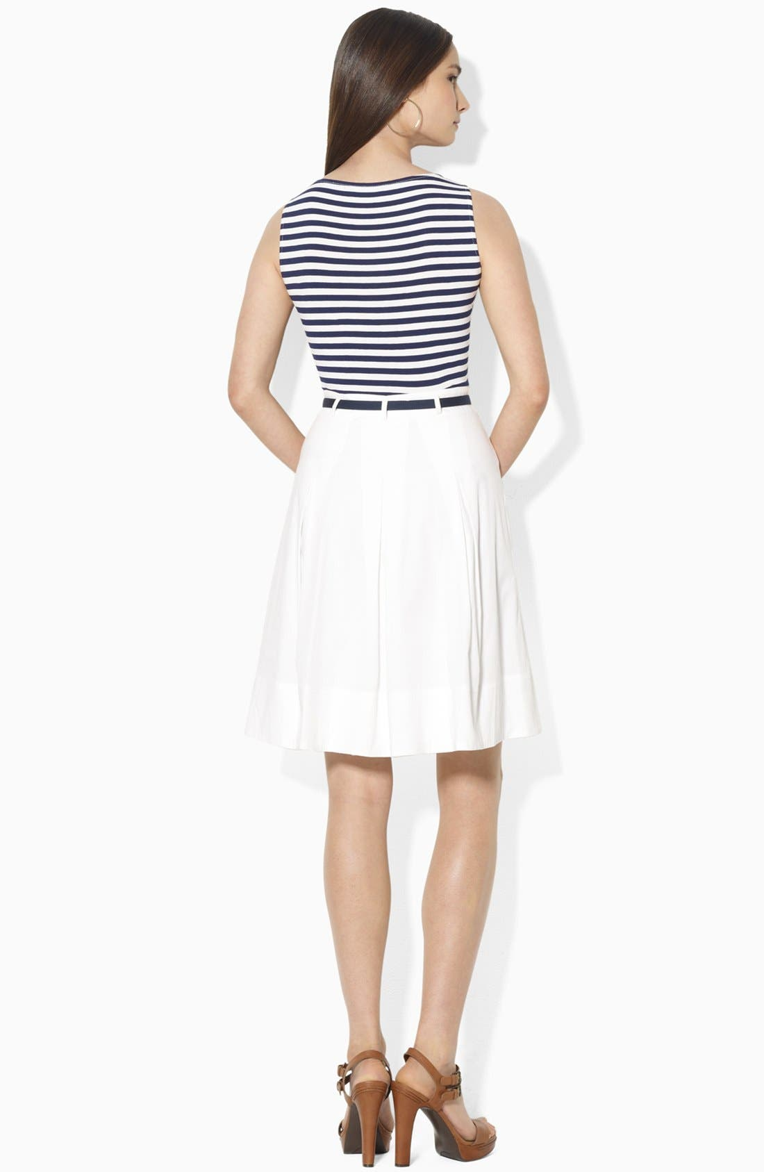 Alternate Image 2  - Lauren Ralph Lauren Mock Two-Piece Dress (Petite)