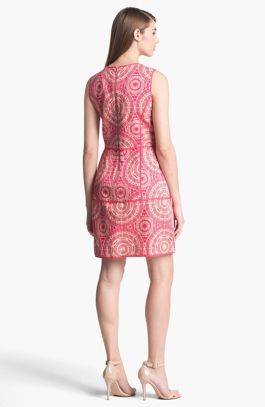 Alternate Image 2  - Taylor Dresses Jacquard Fit & Flare Dress