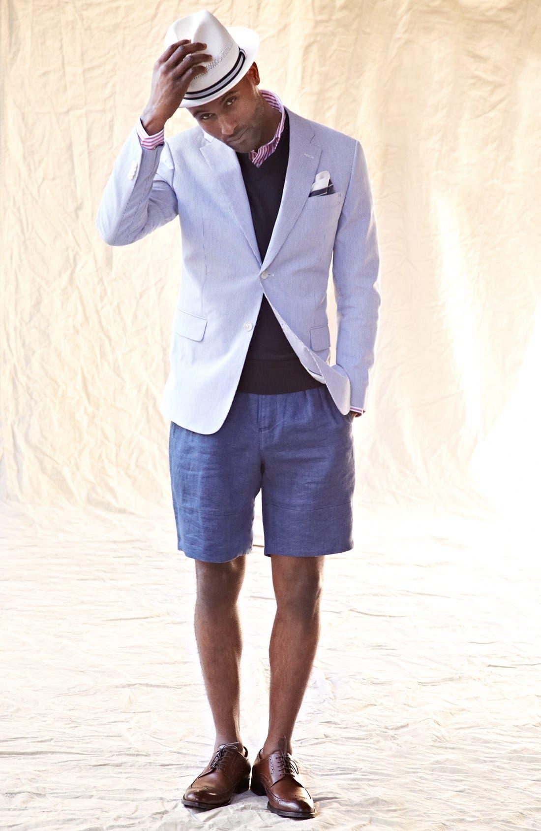 Alternate Image 4  - Hyden Yoo 'William' Linen Shorts