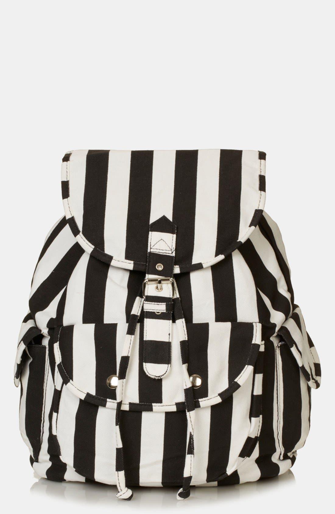 Main Image - Topshop Stripe Backpack