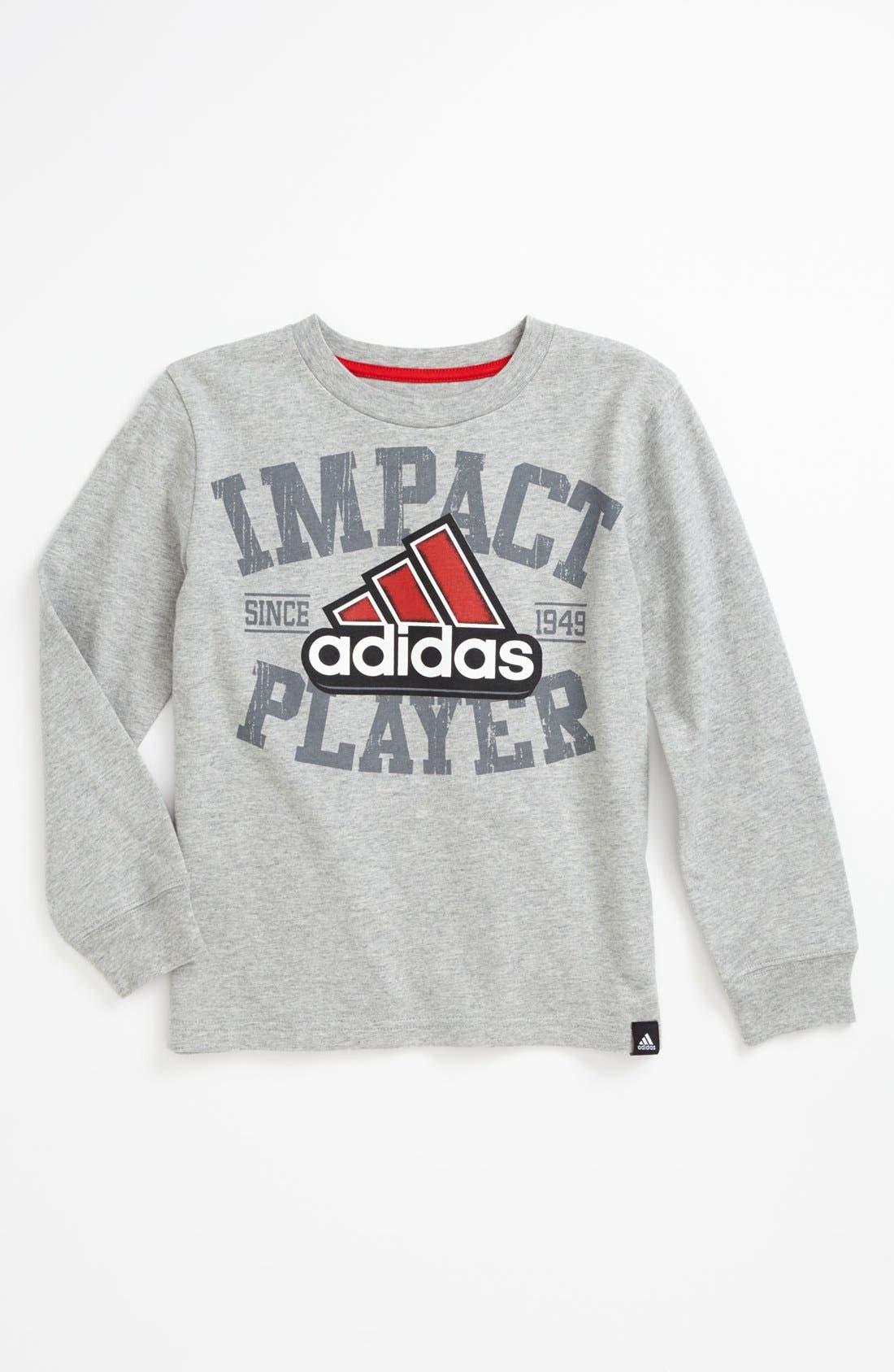 Alternate Image 1 Selected - adidas 'Impact Player' T-Shirt (Little Boys)