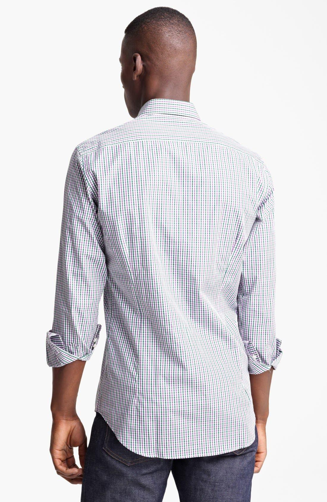 Alternate Image 2  - Etro Check Print Cotton Sport Shirt