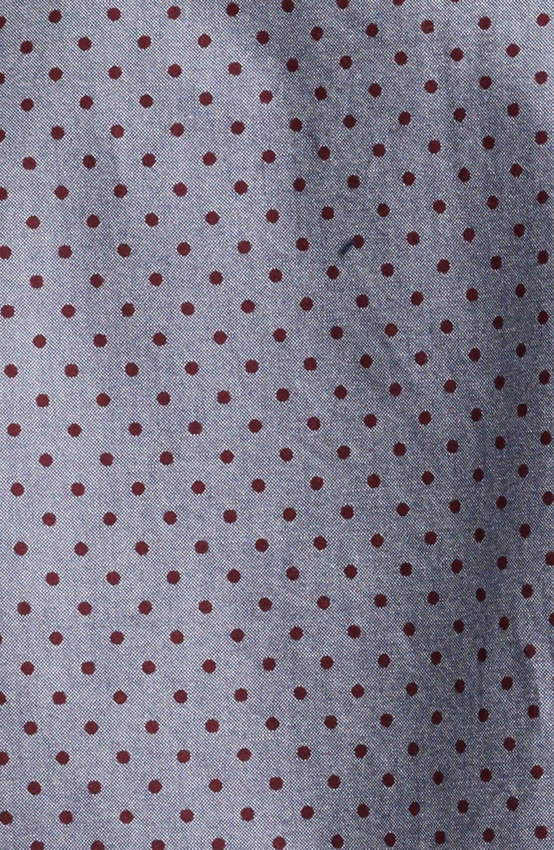 Alternate Image 3  - Paul Smith Jeans Tailored Fit Dot Print Sport Shirt