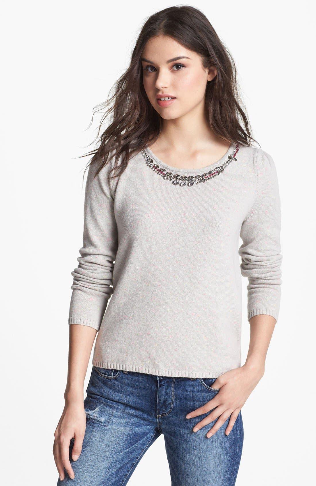 Alternate Image 1 Selected - Hinge® Jewel Embellished Sweater