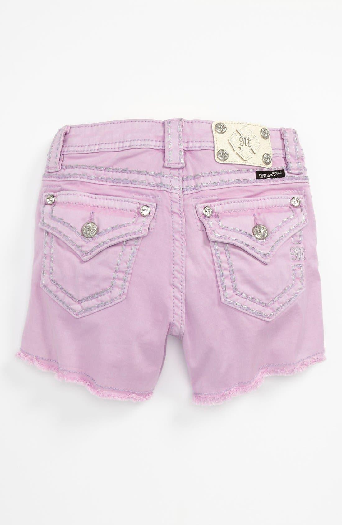 Alternate Image 1 Selected - Miss Me Shorts (Big Girls)