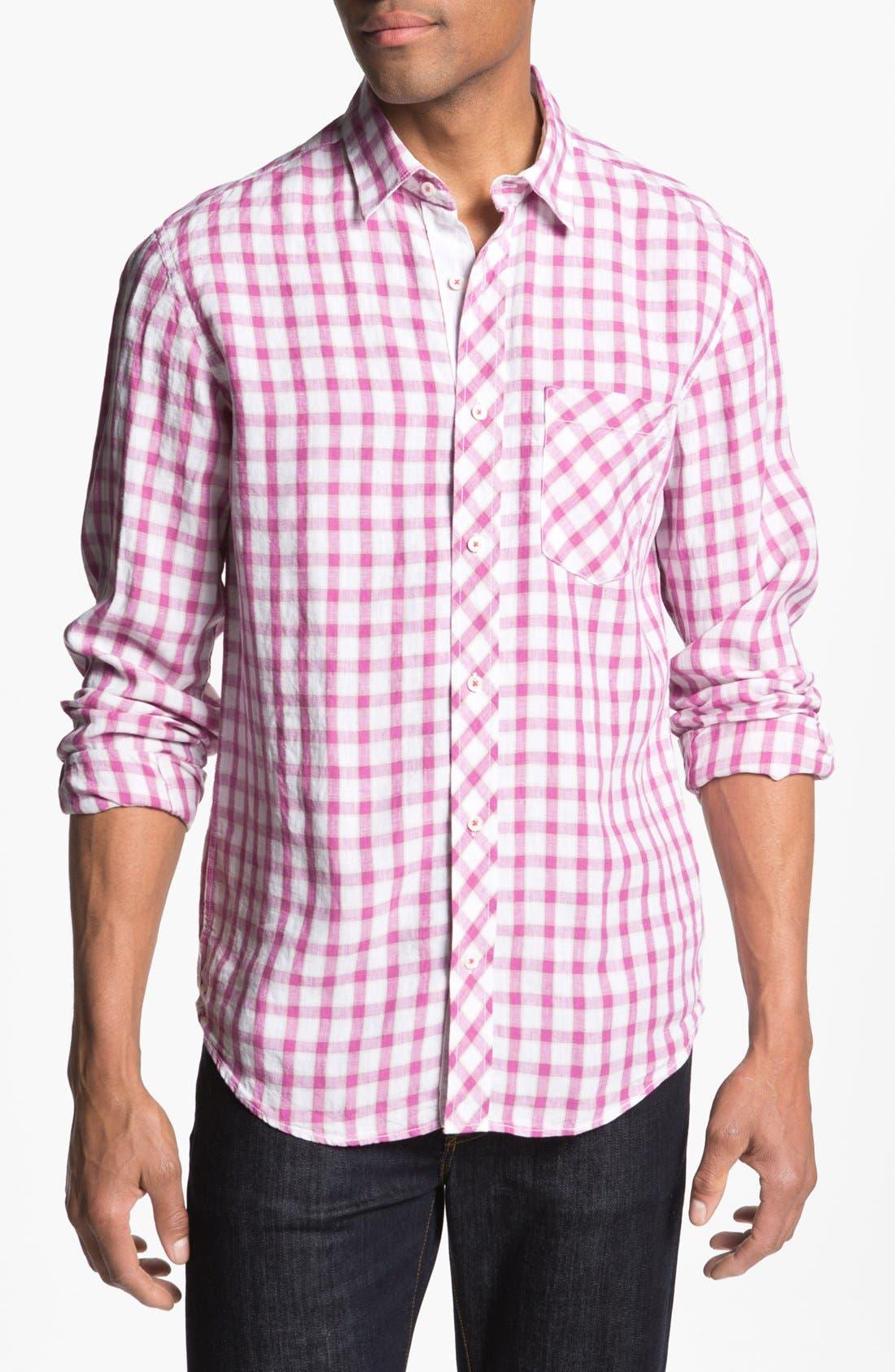 Main Image - Bugatchi Shaped Fit Sport Shirt
