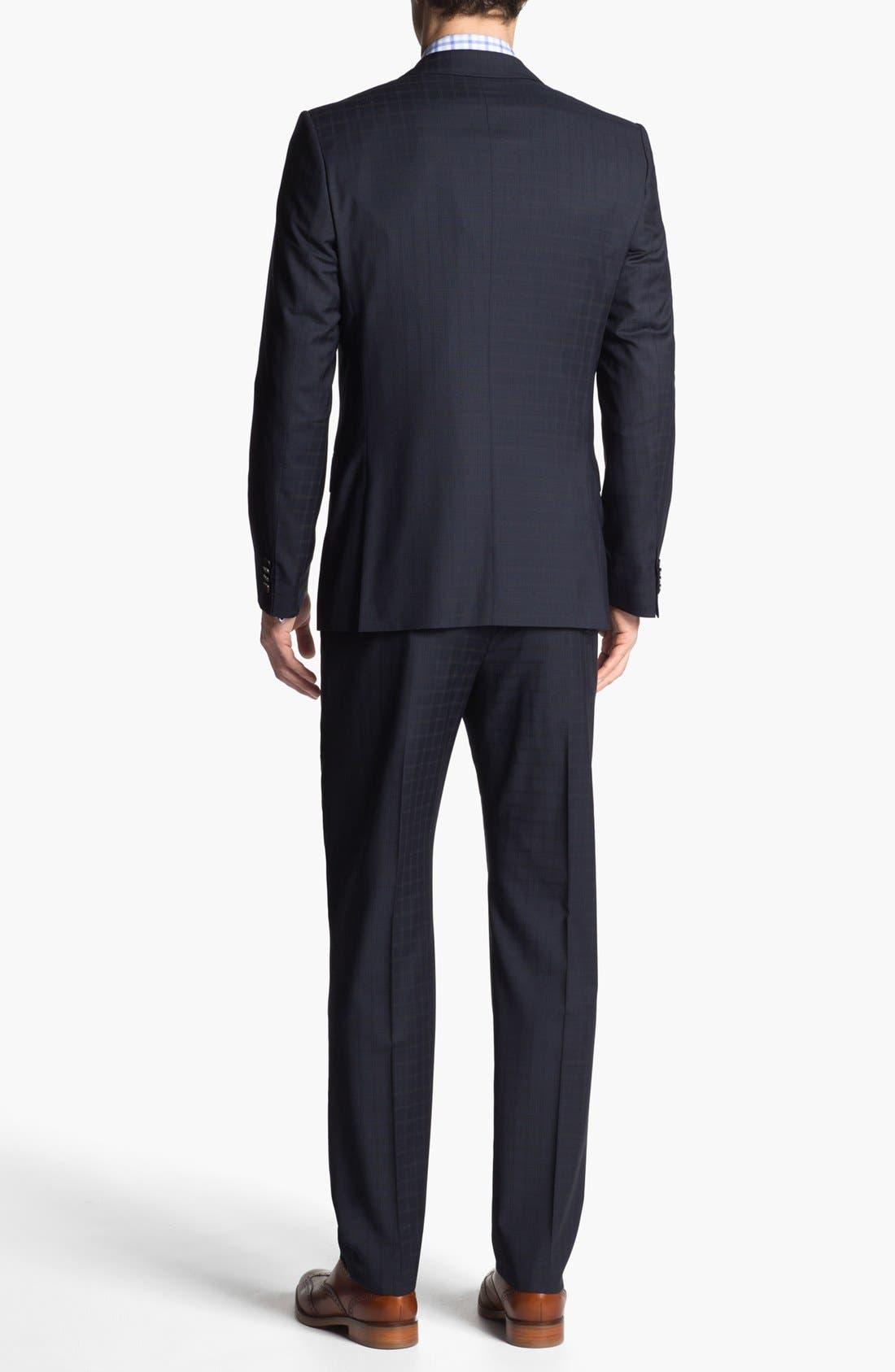 Alternate Image 3  - HUGO 'Amaro/Heise' Trim Fit Check Suit
