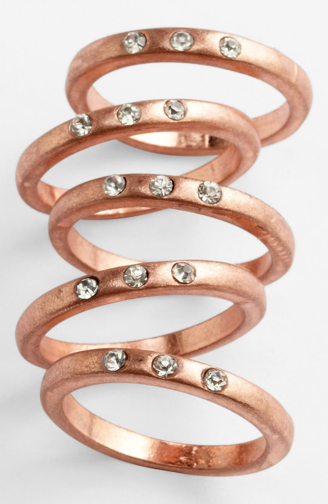 Main Image - Carole Stone Crystal Stackable Rings (Set of 5)