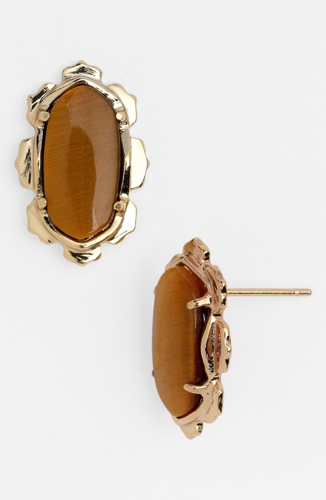 Main Image - Kendra Scott 'Shina' Oval Stone Stud Earrings