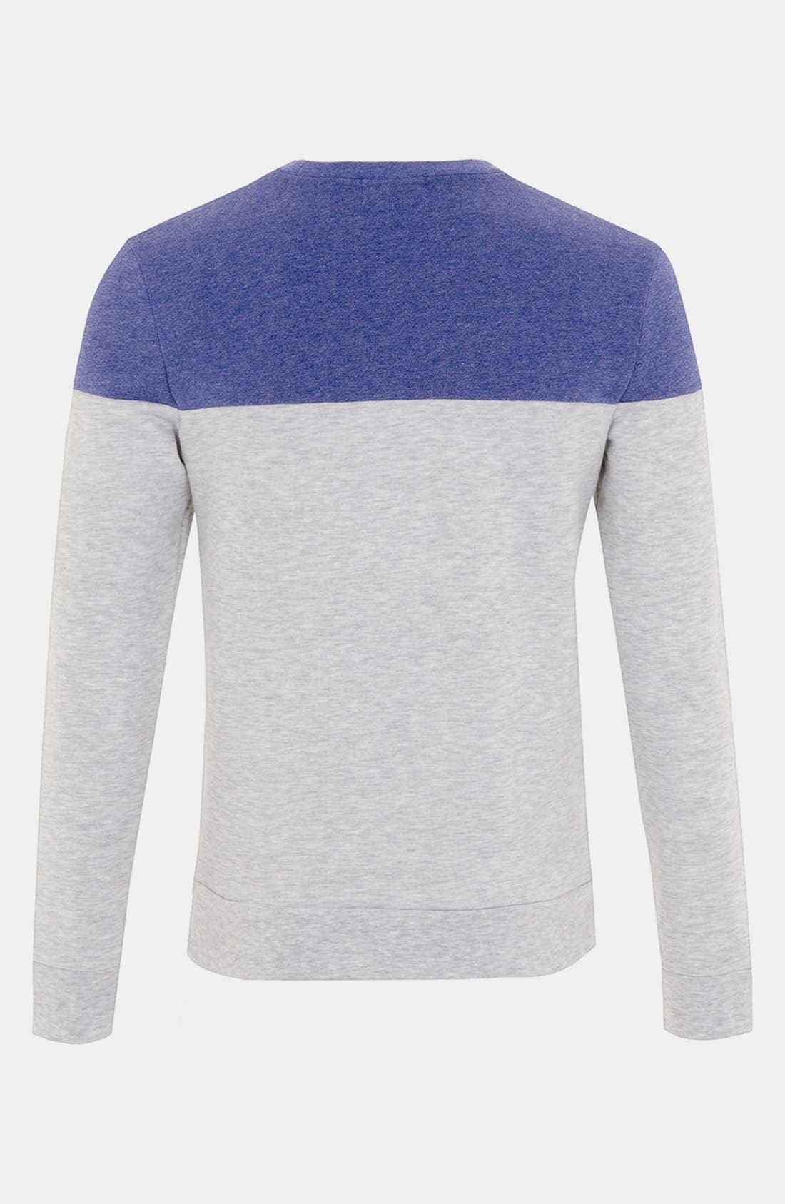 Alternate Image 2  - Topman Cut & Sew Crewneck Sweatshirt