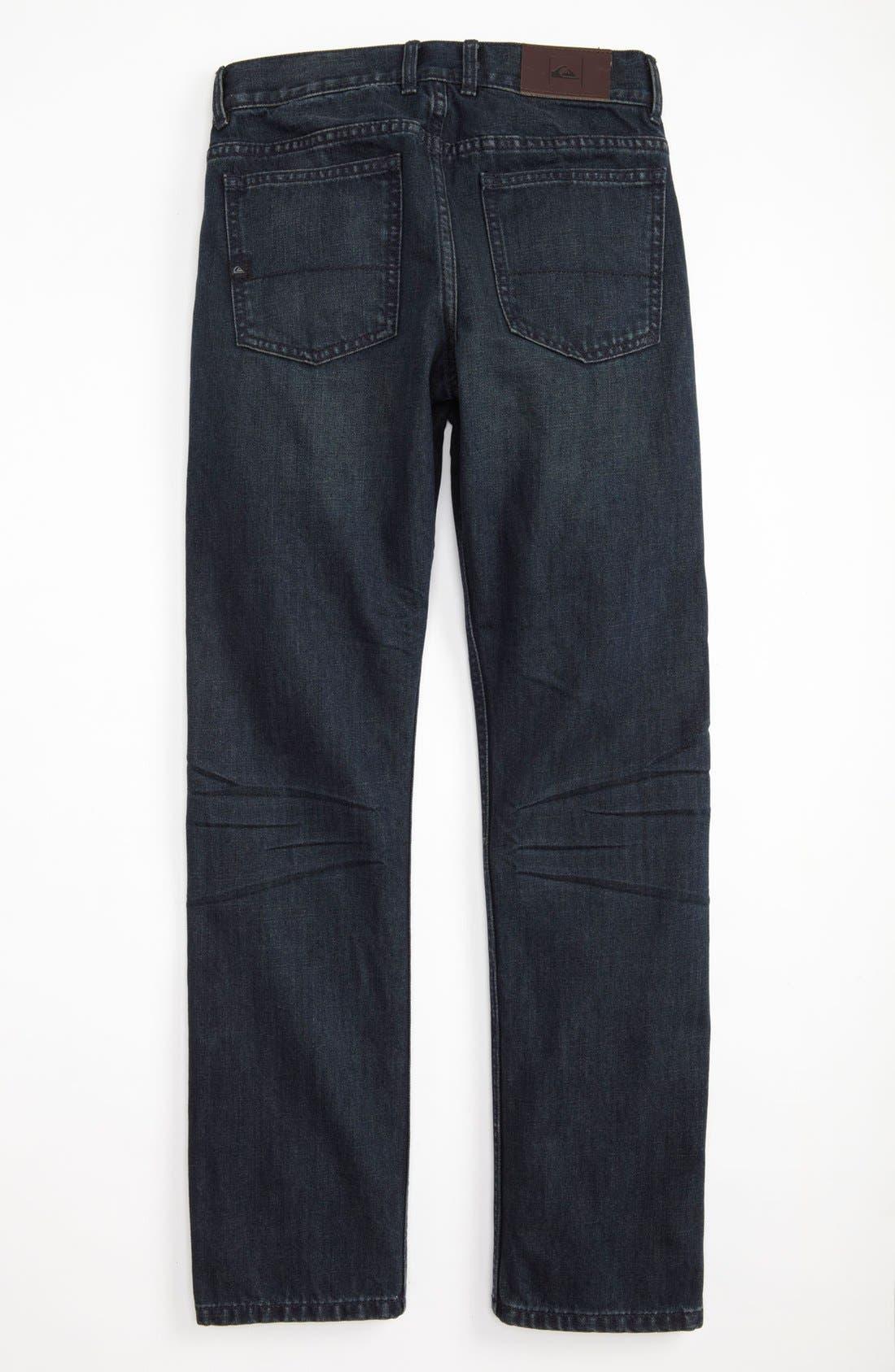 Alternate Image 1 Selected - Quiksilver 'Distortion' Slim Straight Leg Jeans (Big Boys)
