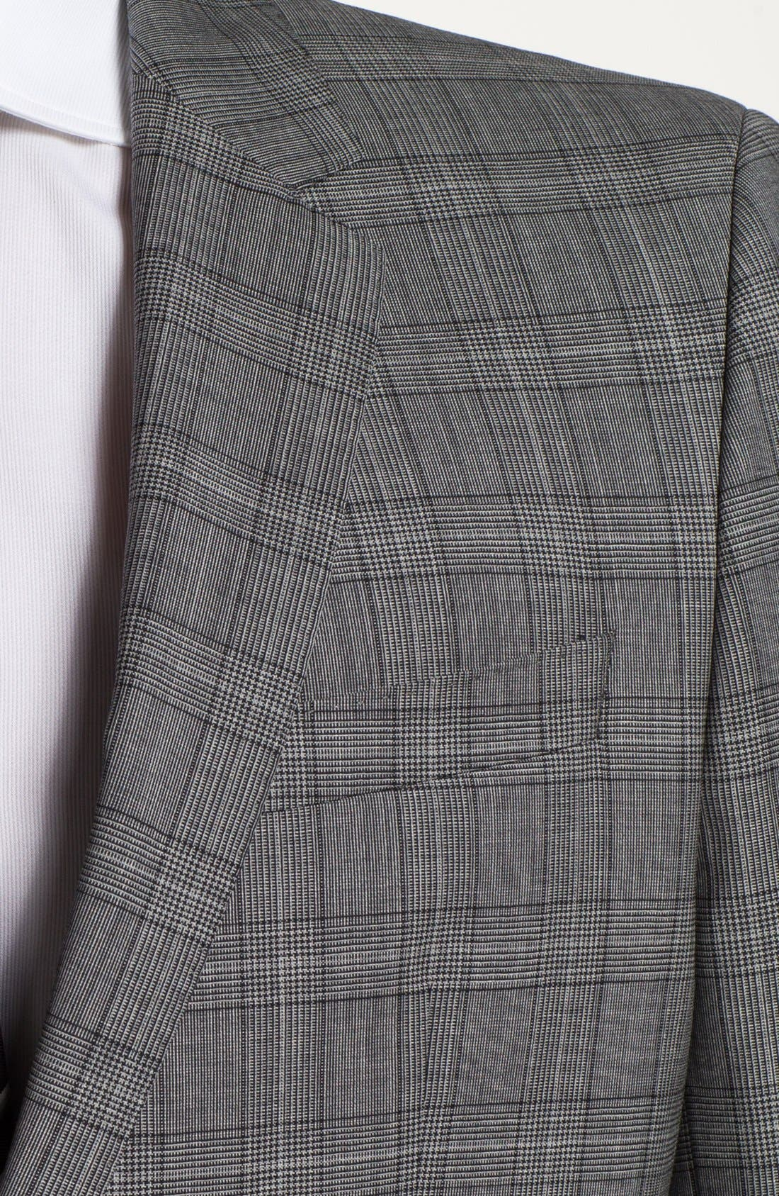 Alternate Image 2  - BOSS HUGO BOSS 'Huge/Genius' Extra Trim Fit Plaid Suit