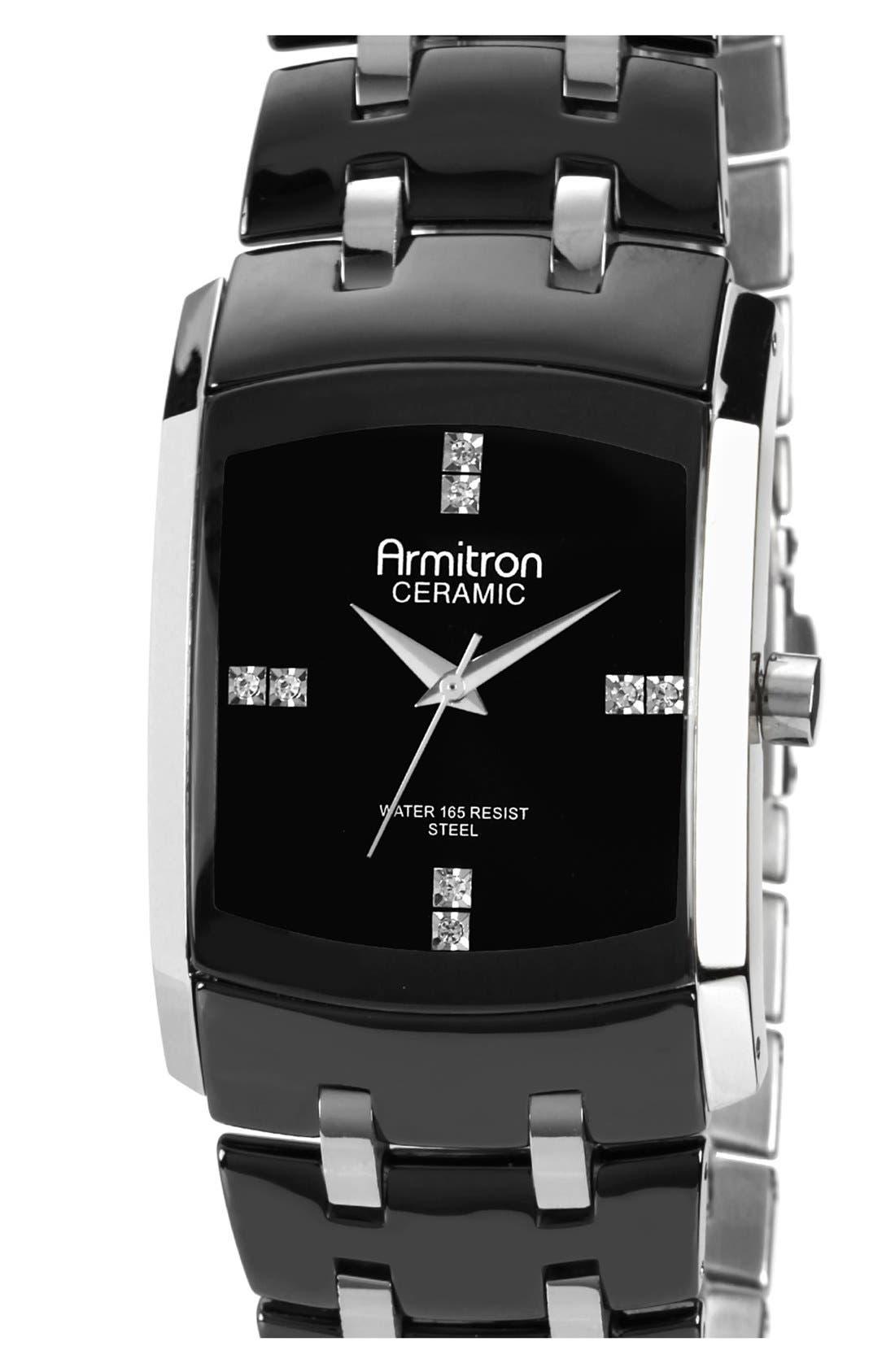 Main Image - Armitron Square Dial Bracelet Watch, 33mm x 35mm