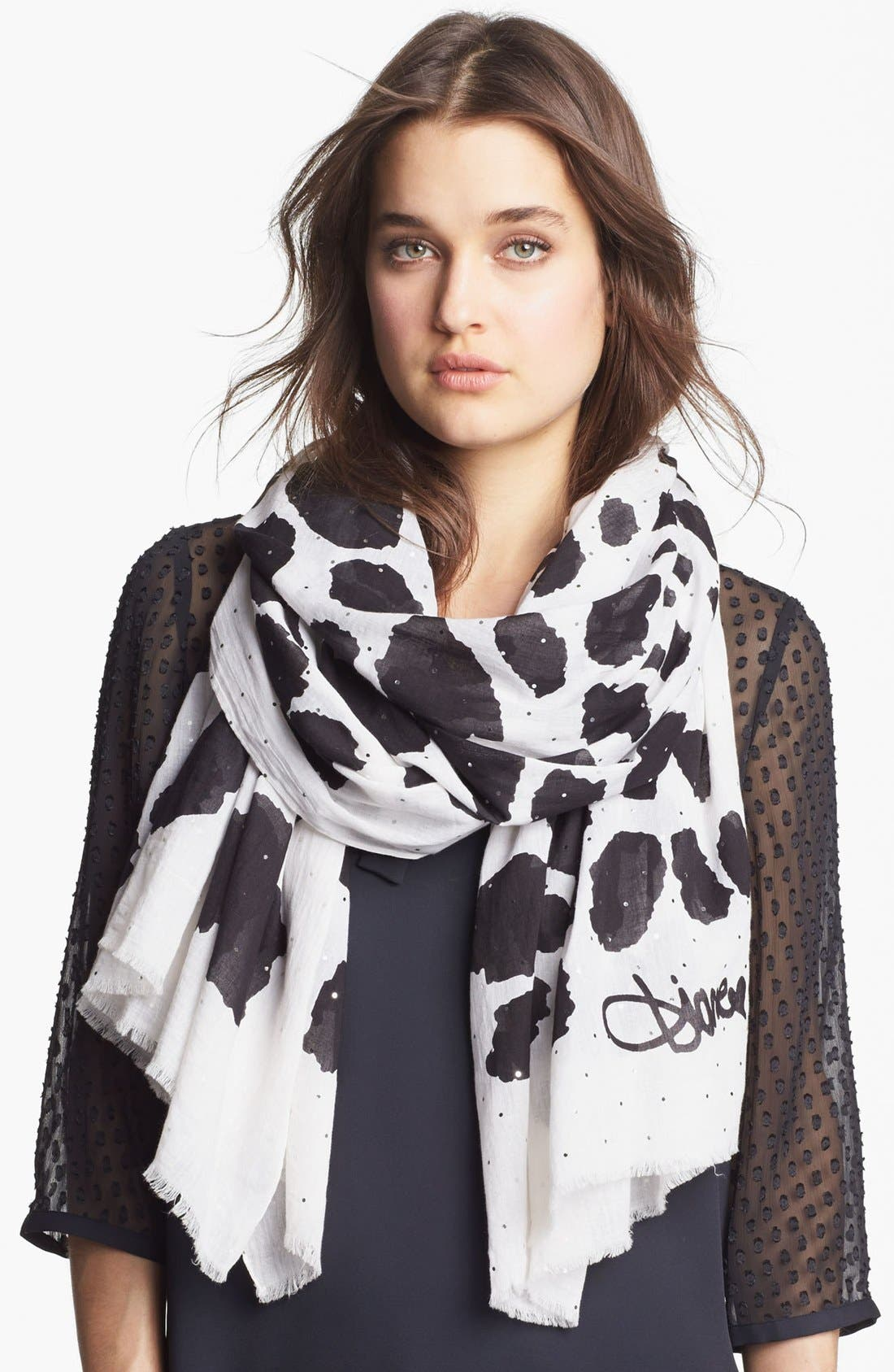Alternate Image 1 Selected - Diane von Furstenberg 'Celeste' Embellished Scarf