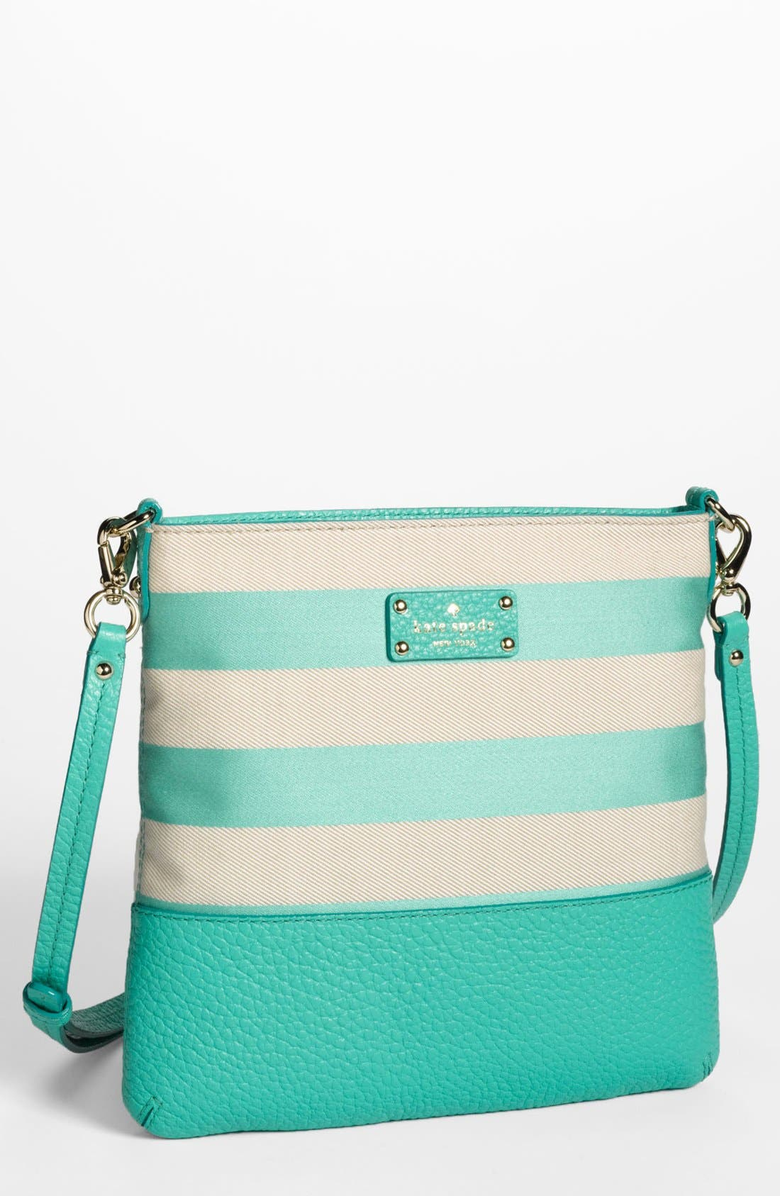 Main Image - kate spade new york 'grove court stripe - cora' crossbody bag